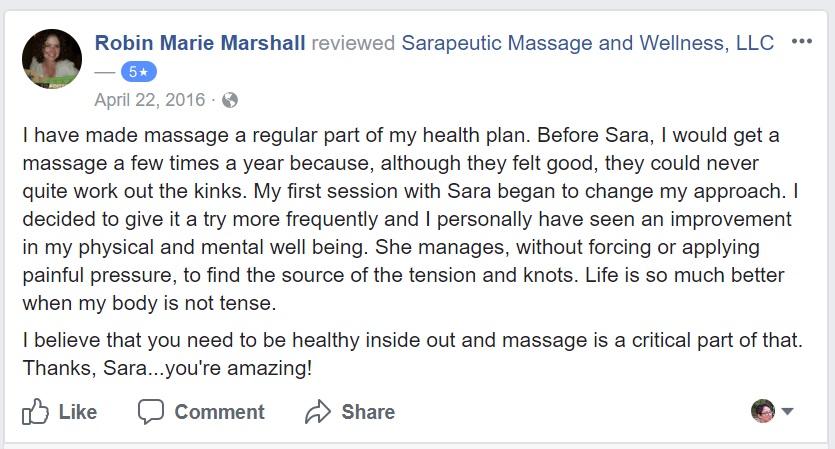 Benefits of regular massage with Sarapeutic
