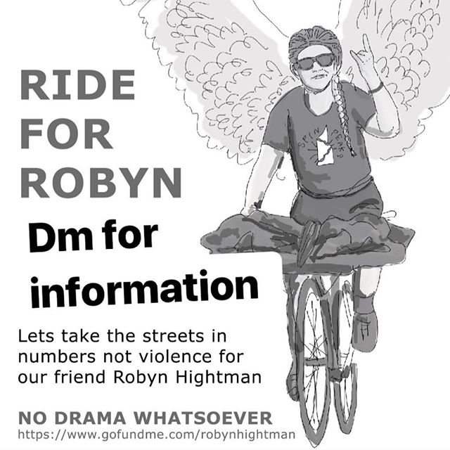DM for the details of tonight's NYC ride. #rideforrobyn #justiceforrobyn