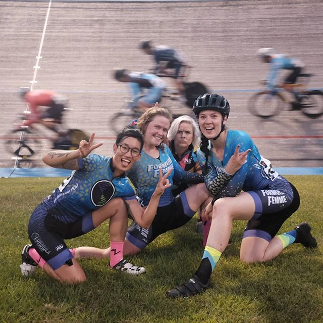 Thank you thank you thank you to Minneapolis track fam for the lovely warm welcome and an amazing #fixedgearclassic !! We had the best time and feel so privileged to get the chance to race on the NSC velodrome 📸 @bun_hopplies
