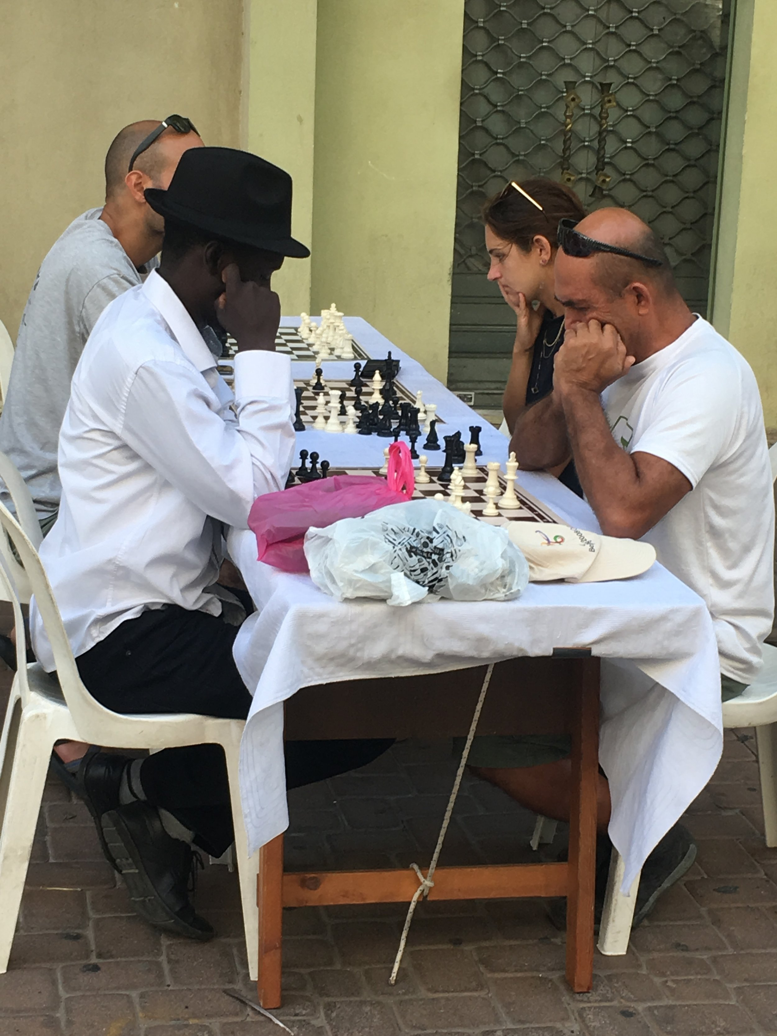 Your move. Chess players on the street in Tel Aviv.JPG