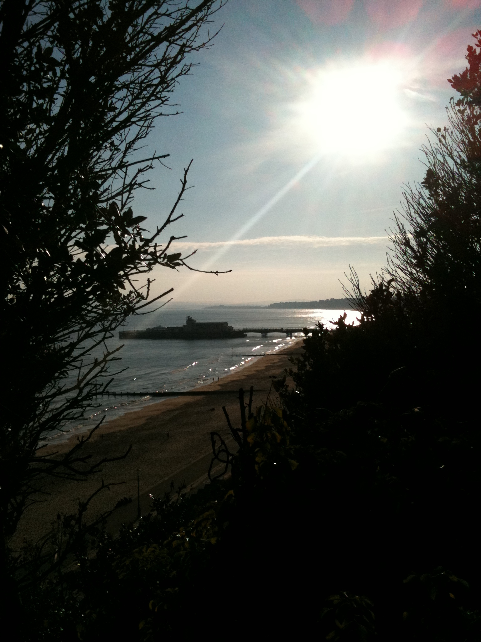 Bournemouth beach at the end of a sunny day.JPG