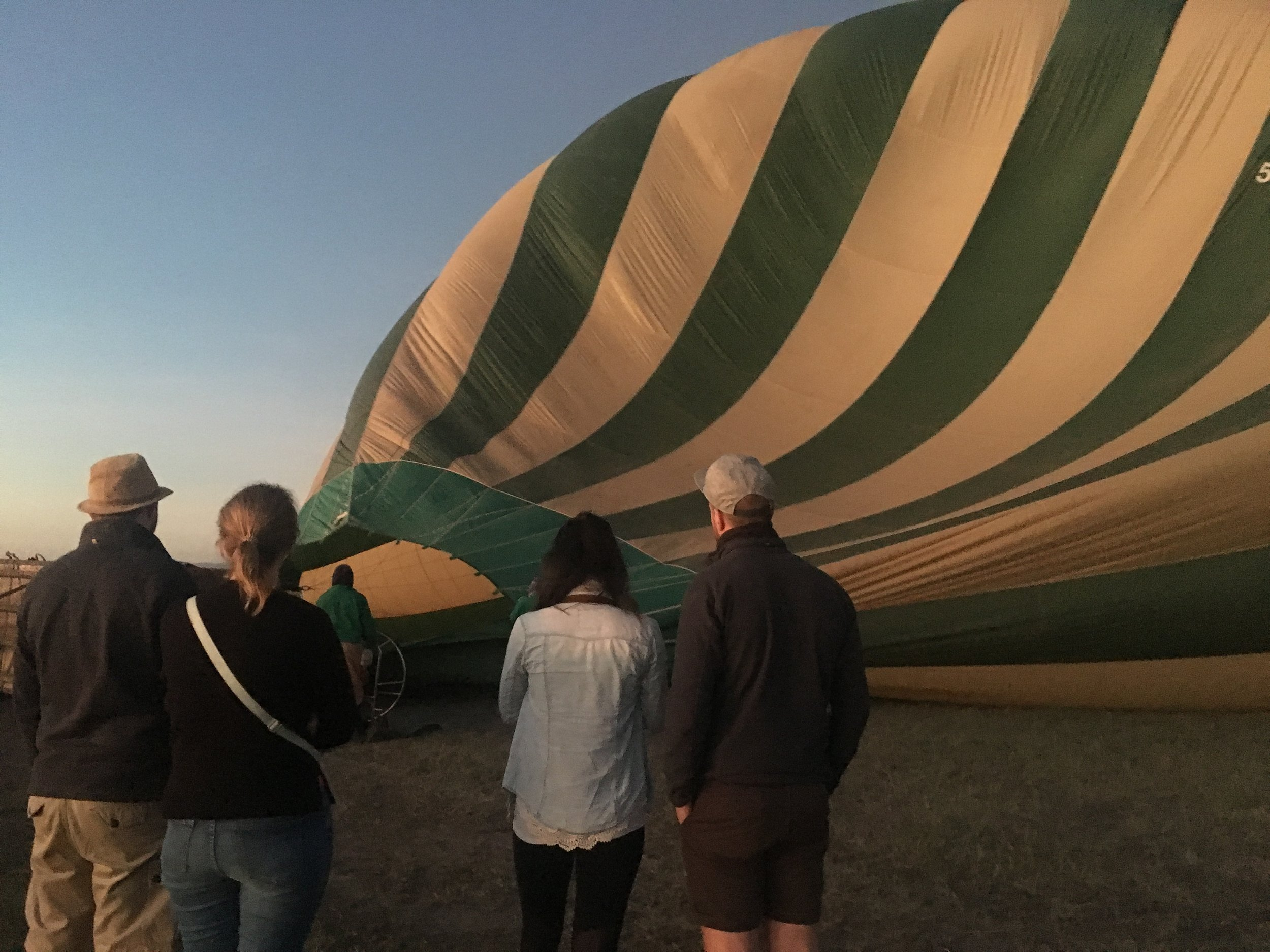 At the launch site waiting to load into the basket