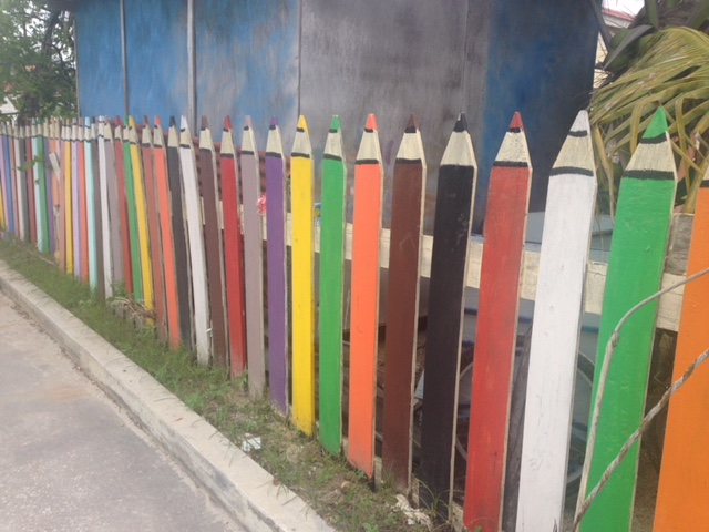 Now that's what I call a colourful fence