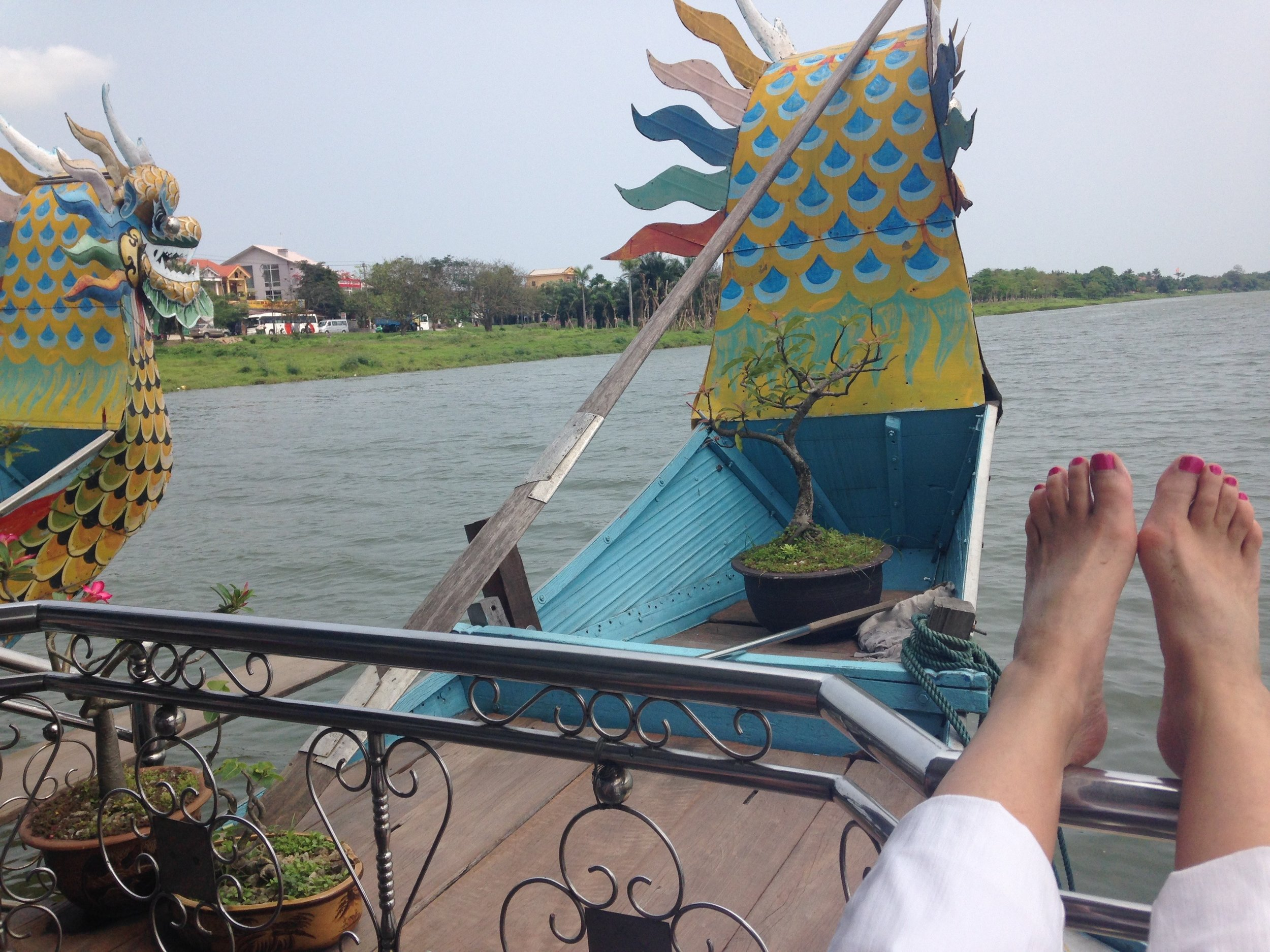 Well travelled feet. Meandering down the Mekong