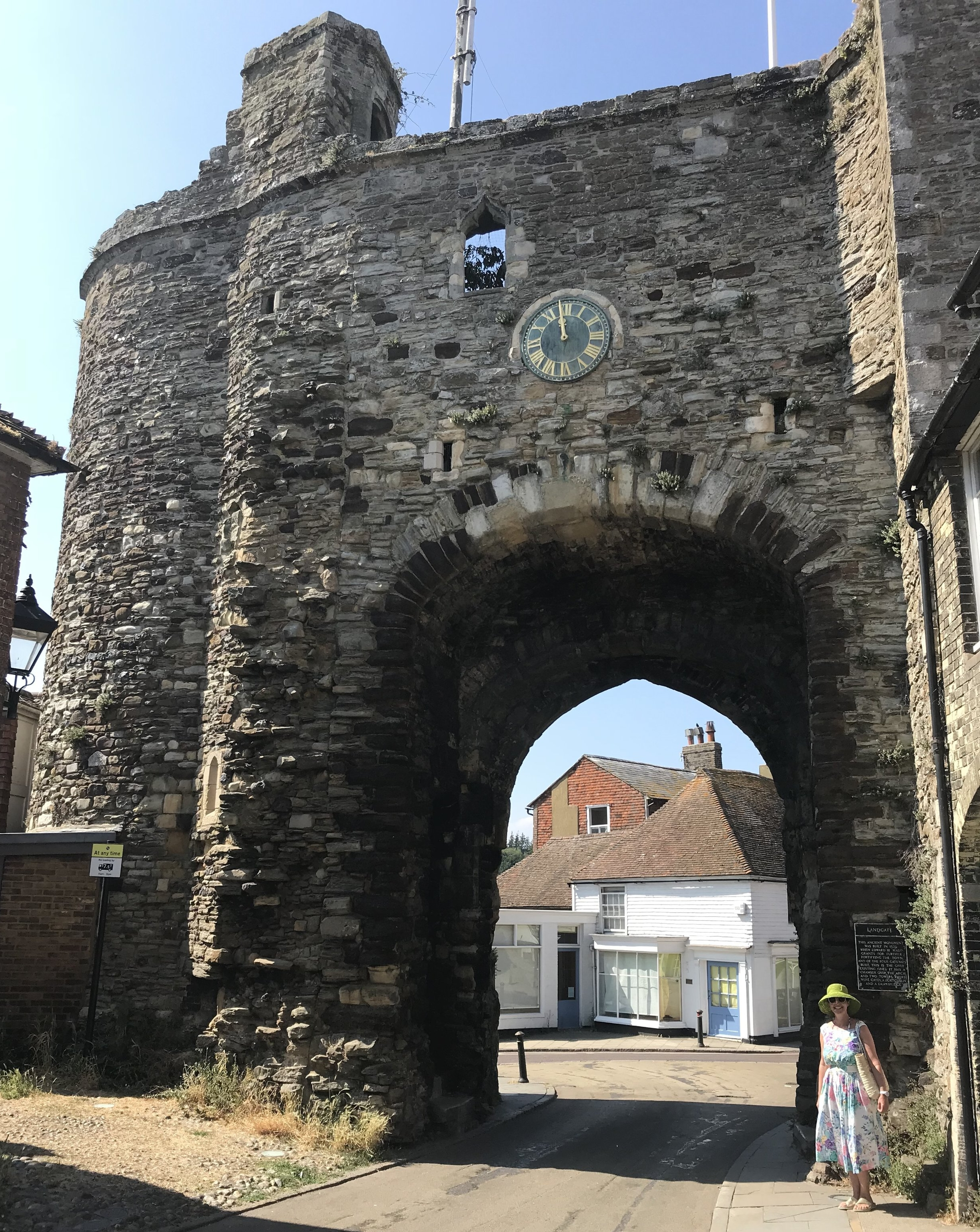 Landgate, the sole surviving 15th Century gate into the town