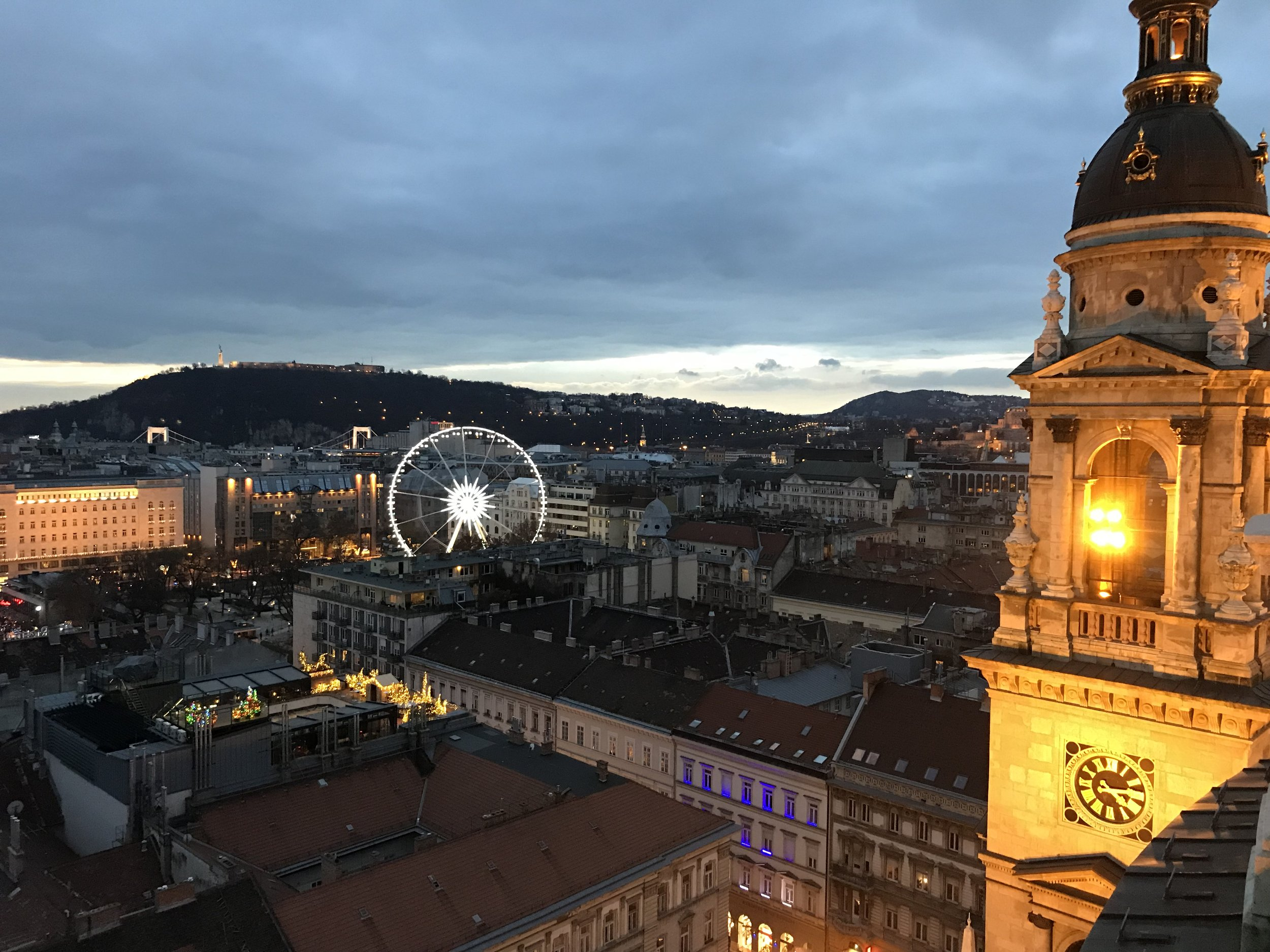 The Budapest Eye from the dome of the Basilica of St Stephen