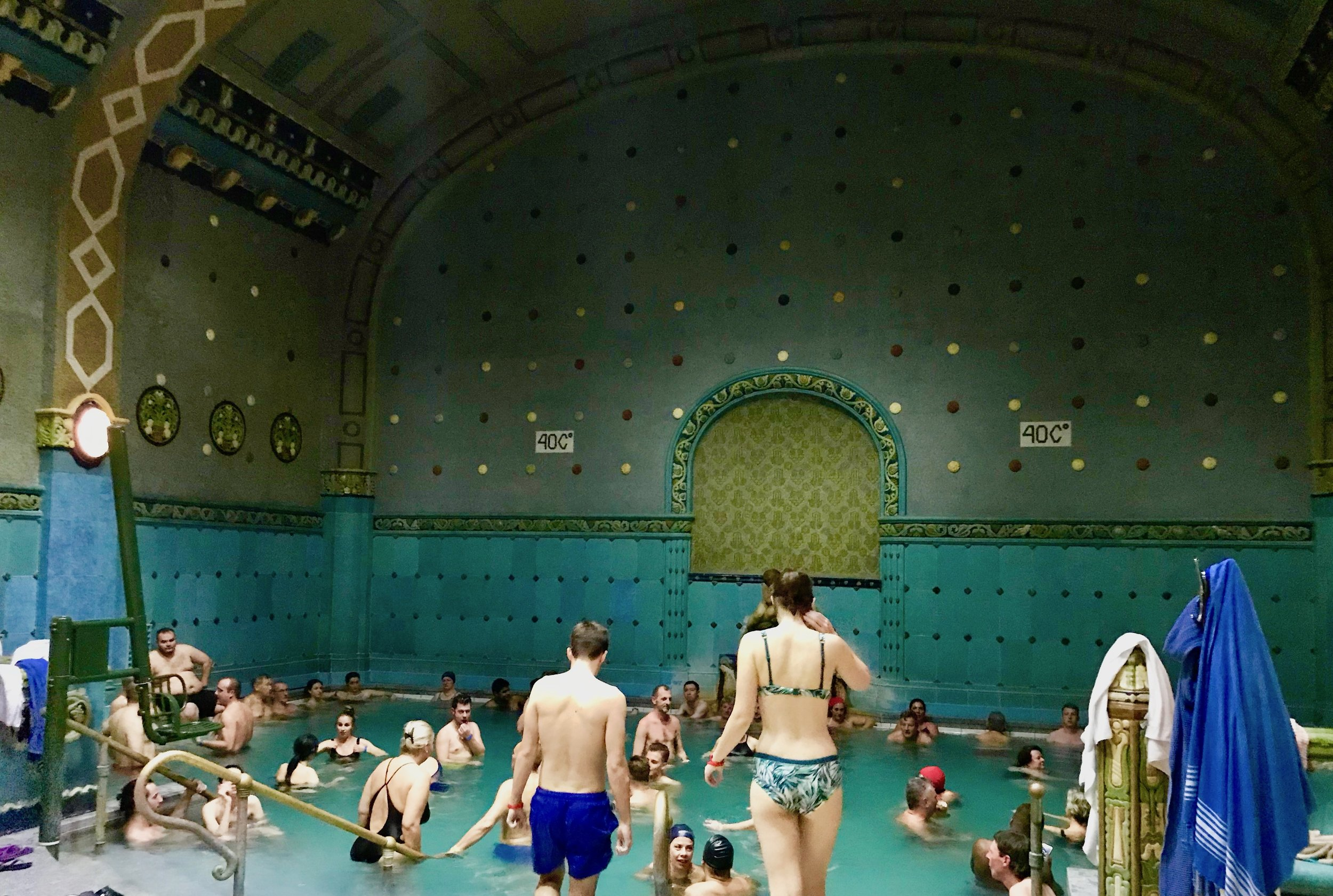 One of the four indoor thermal pools at the Gellert spa