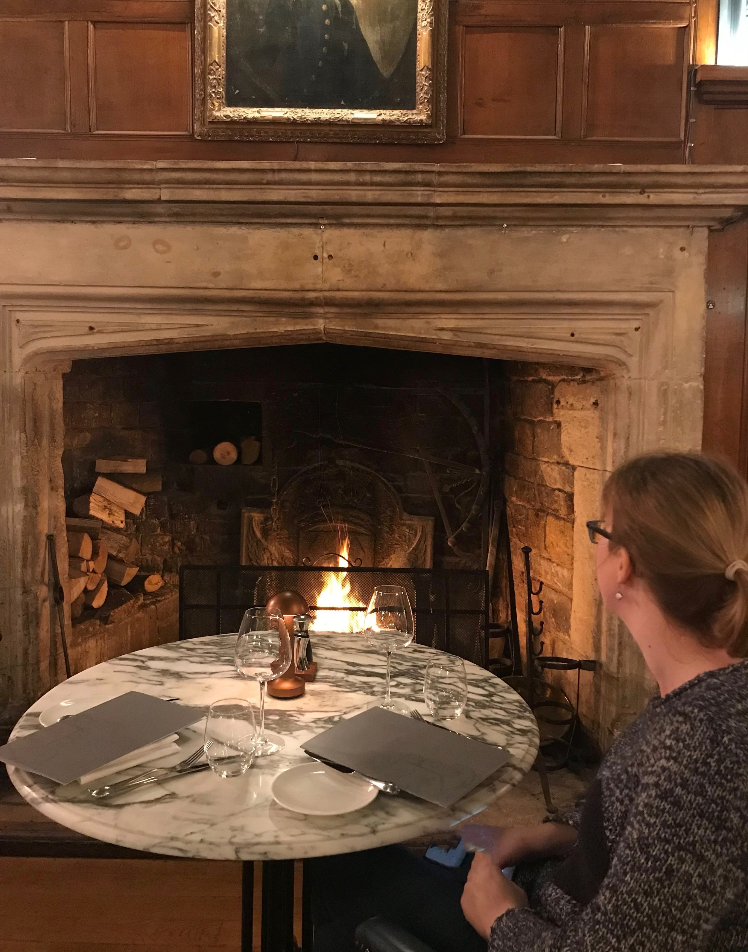 Dinner in front of a roaring fire? Oh, alright then
