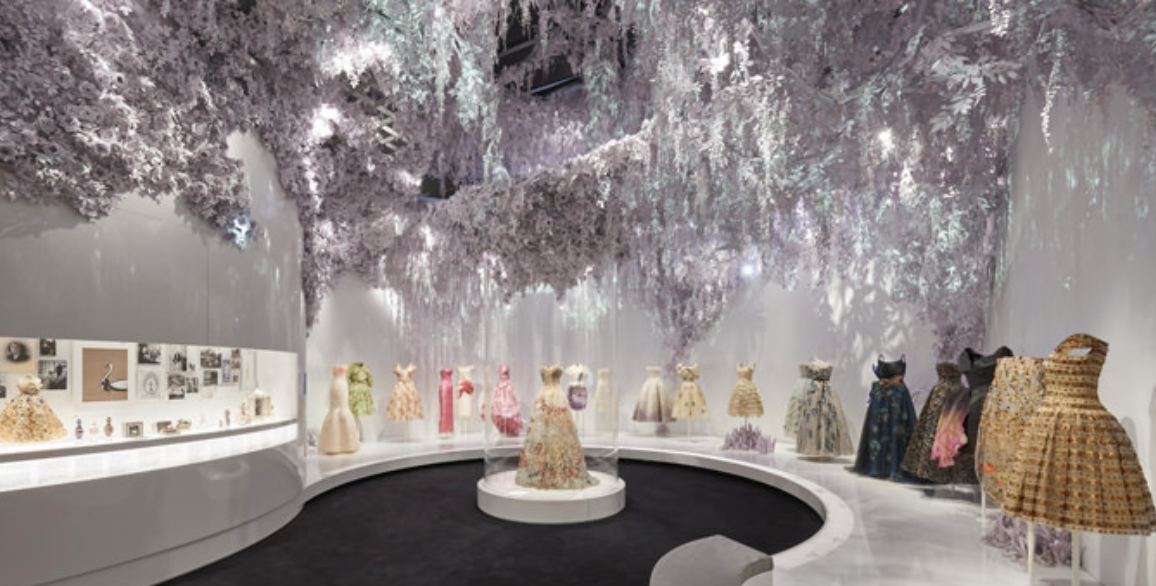 The staging of the exhibition is almost as beautiful as the clothes themselves. Almost….