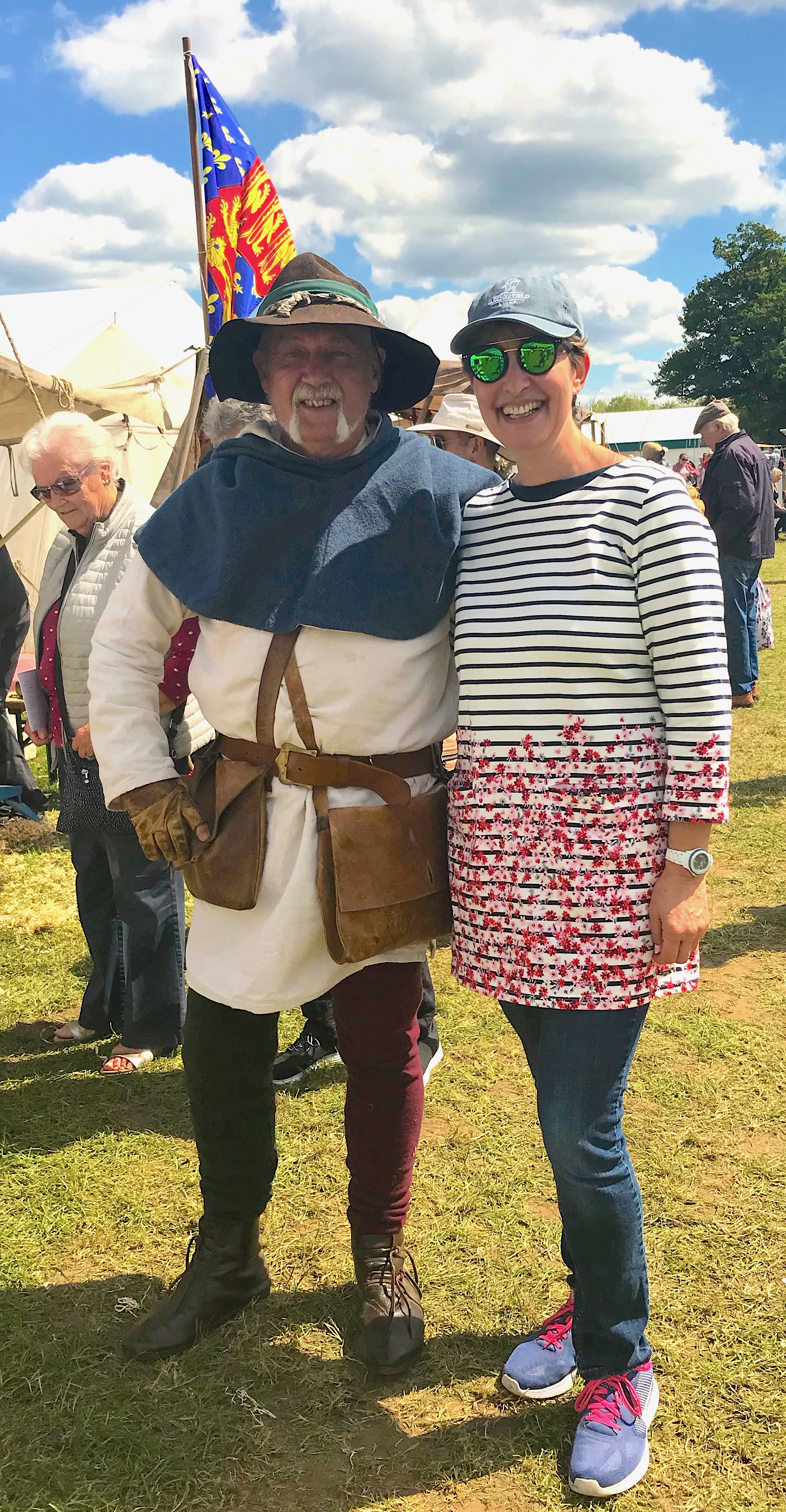 I met John at the Living Crafts fair at Hatfield House. Exactly as he would have hoped, it was the way he was dressed that made me want to know more about him!