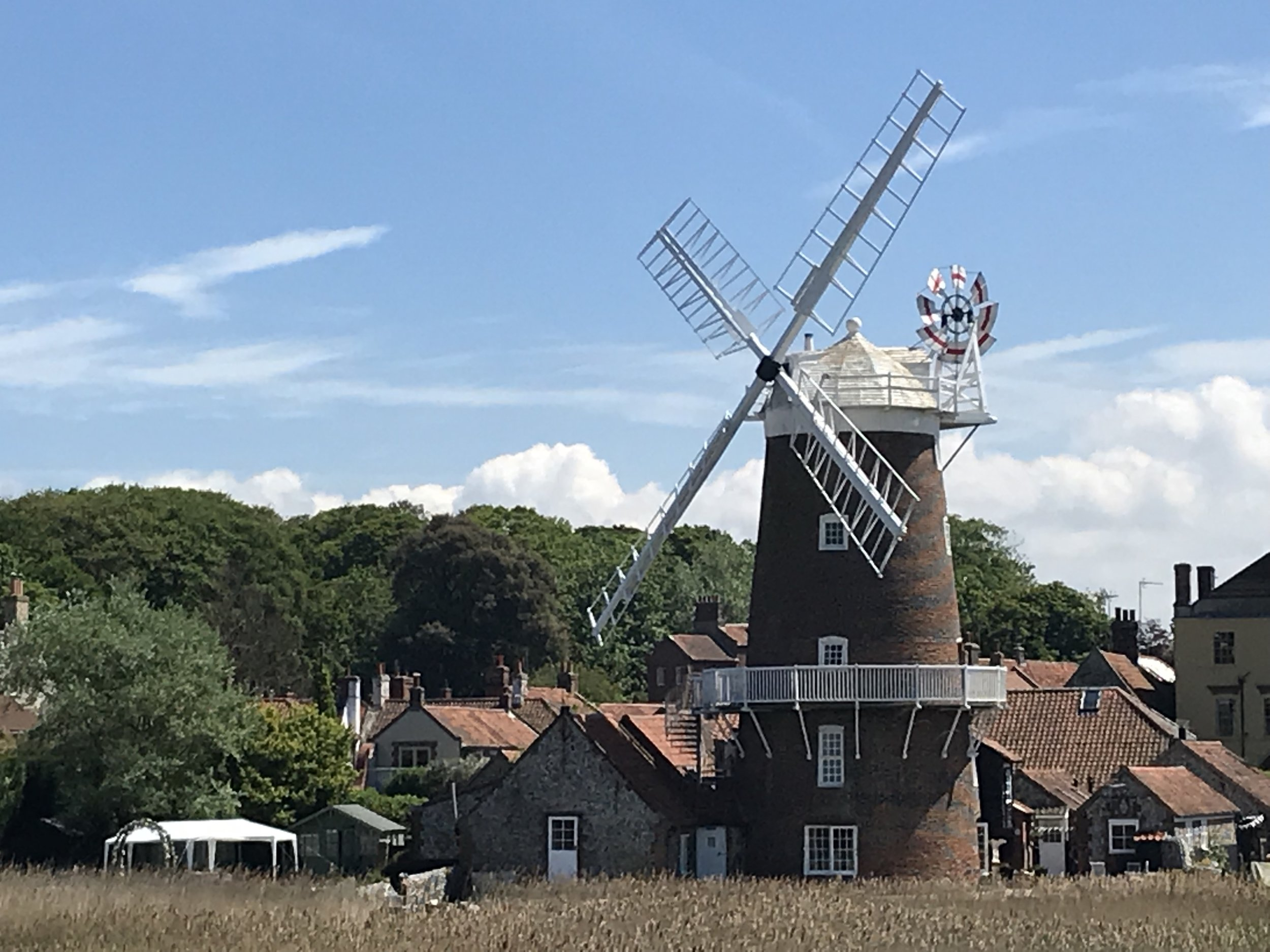 You can stay in the  hotel  at the windmill in Cley