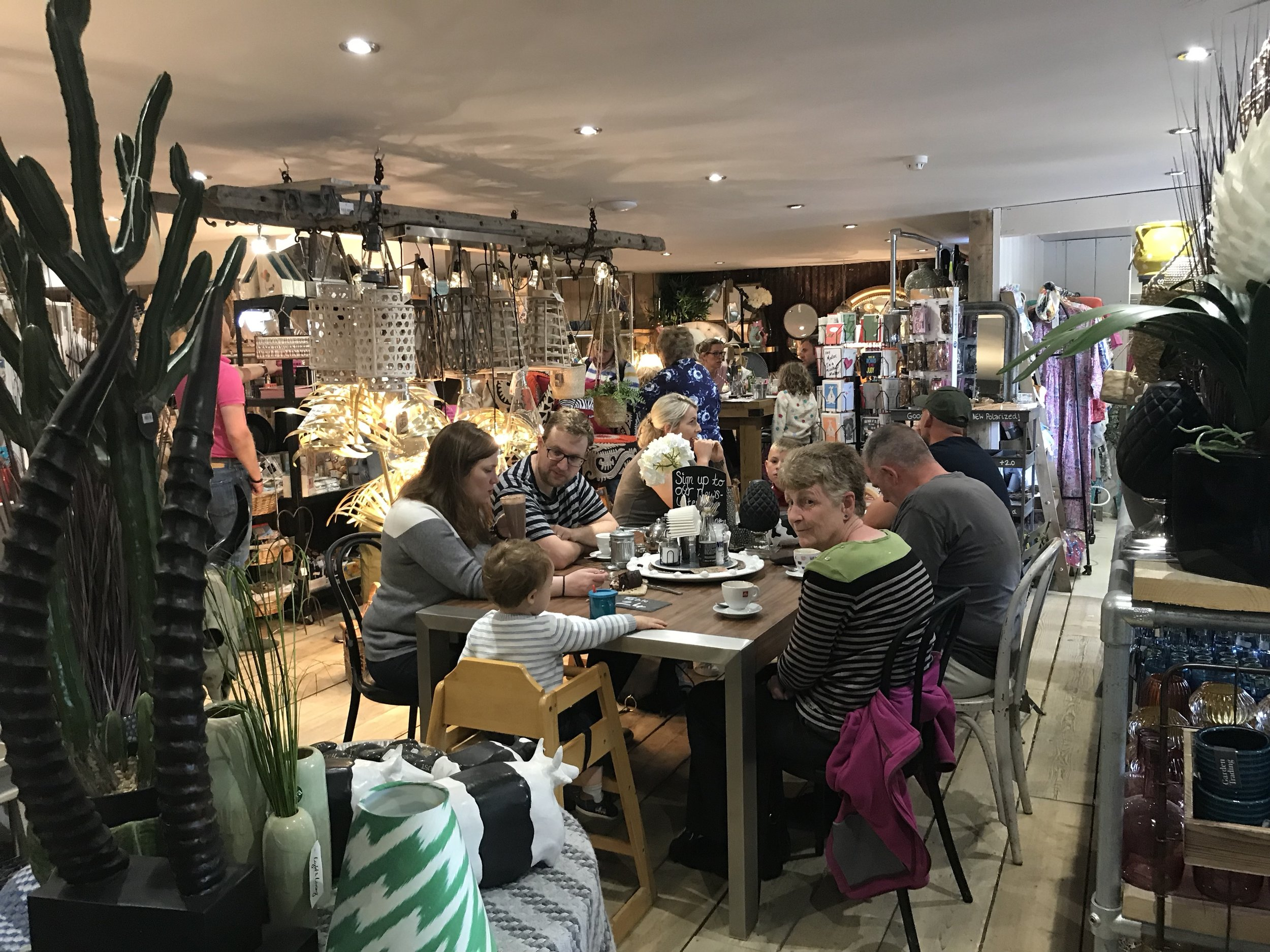 You can eat the delicious food at Thornham Deli literally surrounded by the stylish products on sale