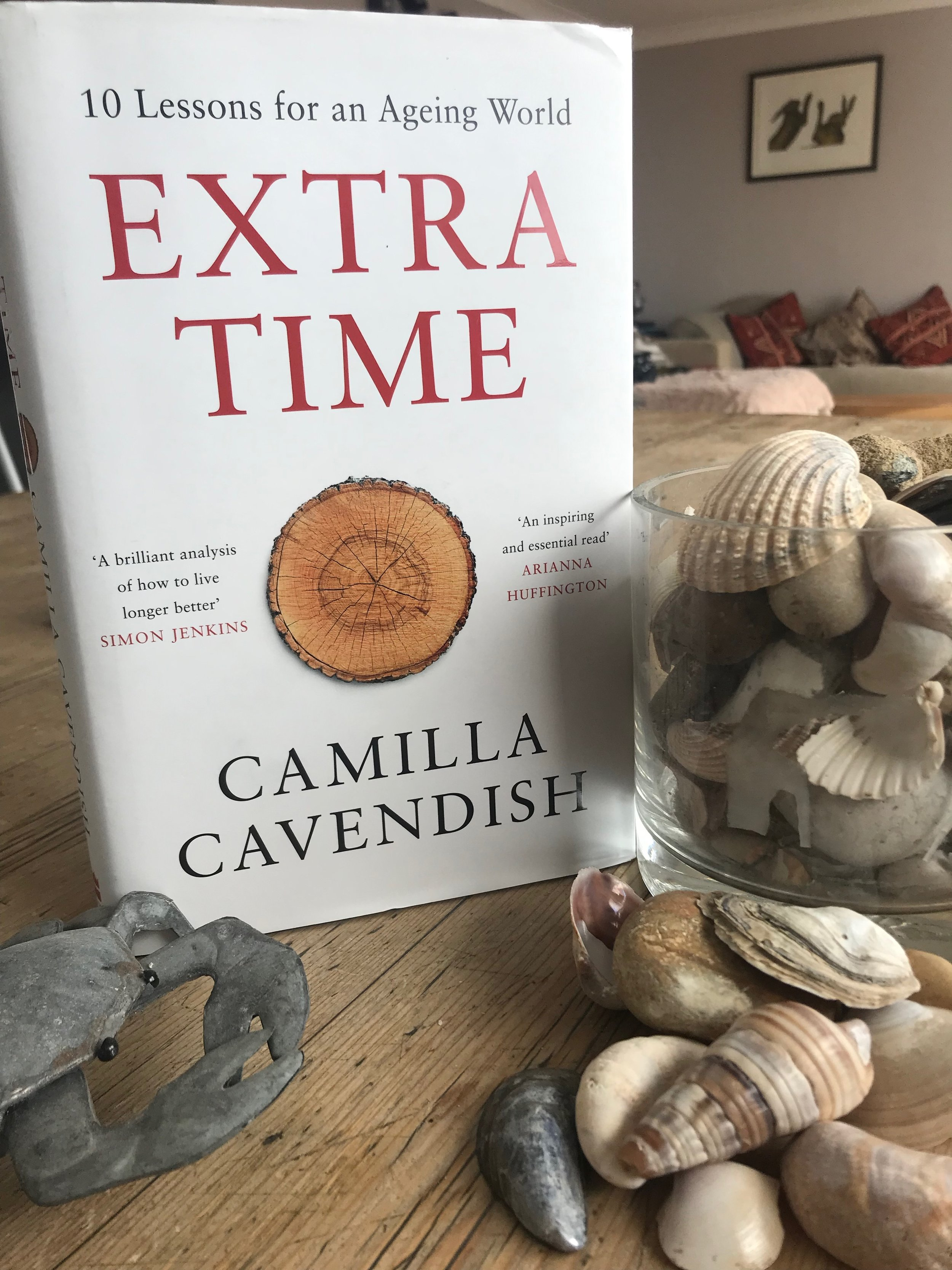 Extra Time by Camilla Cavendish. Photo props courtesy of the temporary Heydays beach-side HQ and nothing to do with the book at all!
