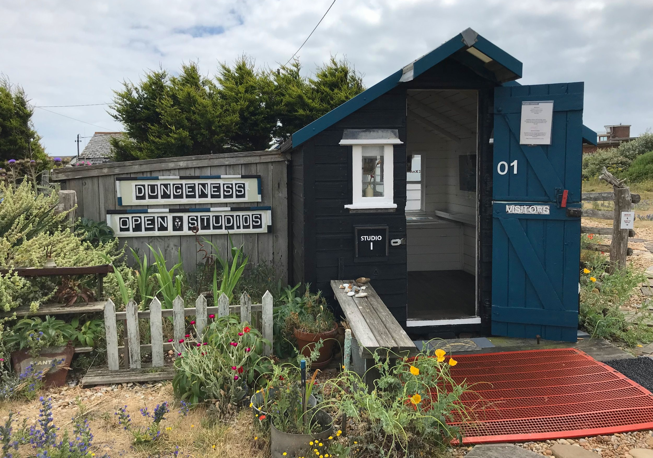 The first of the two tiny shed galleries at Dungeness Open Studio