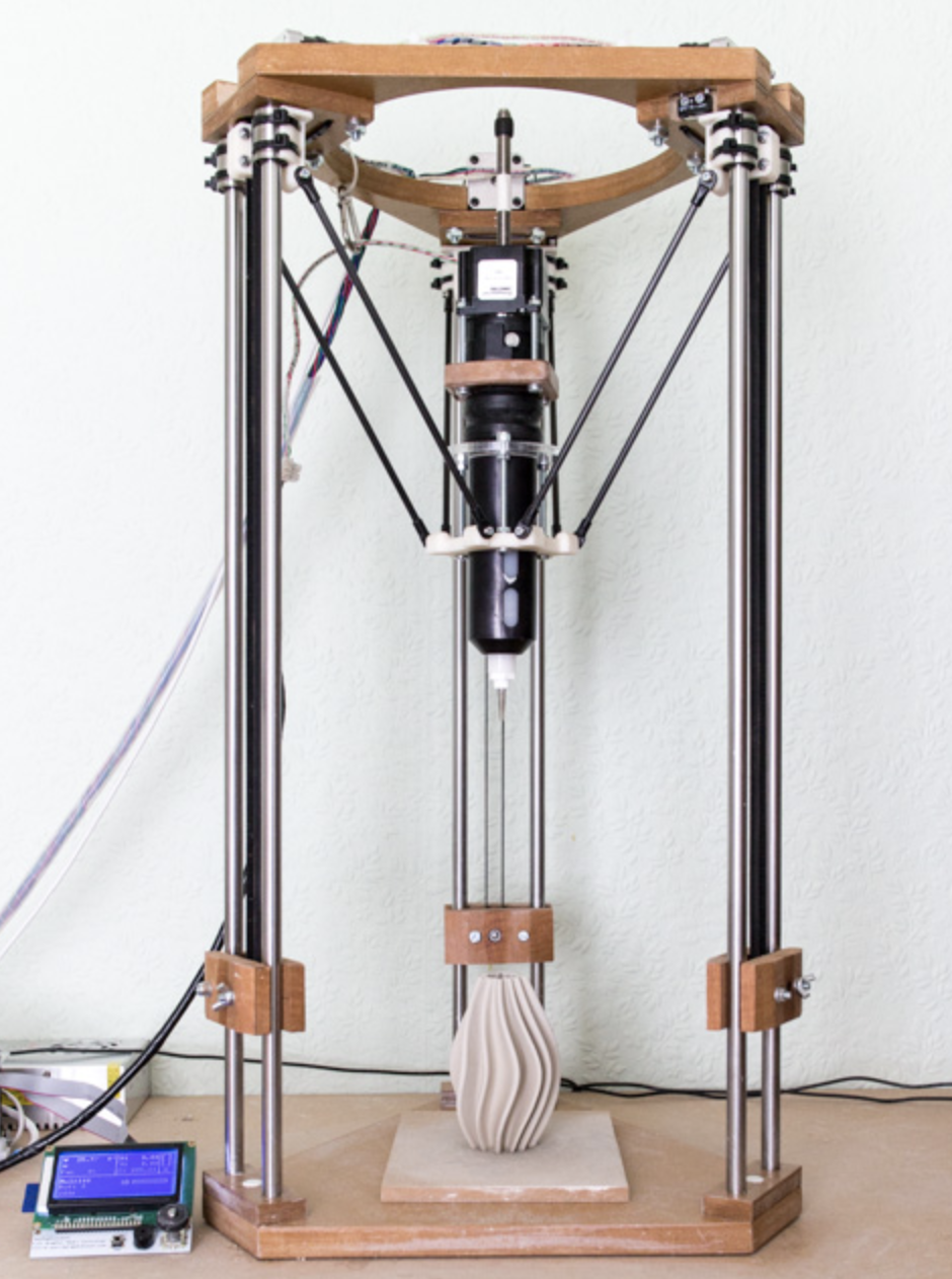 The 3D printer that Jack designed and built Picture J&J Hardie