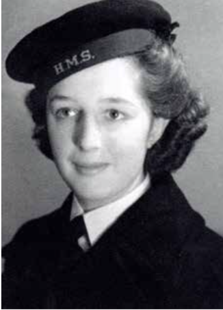 17 year old Ruth in her WRNS uniform