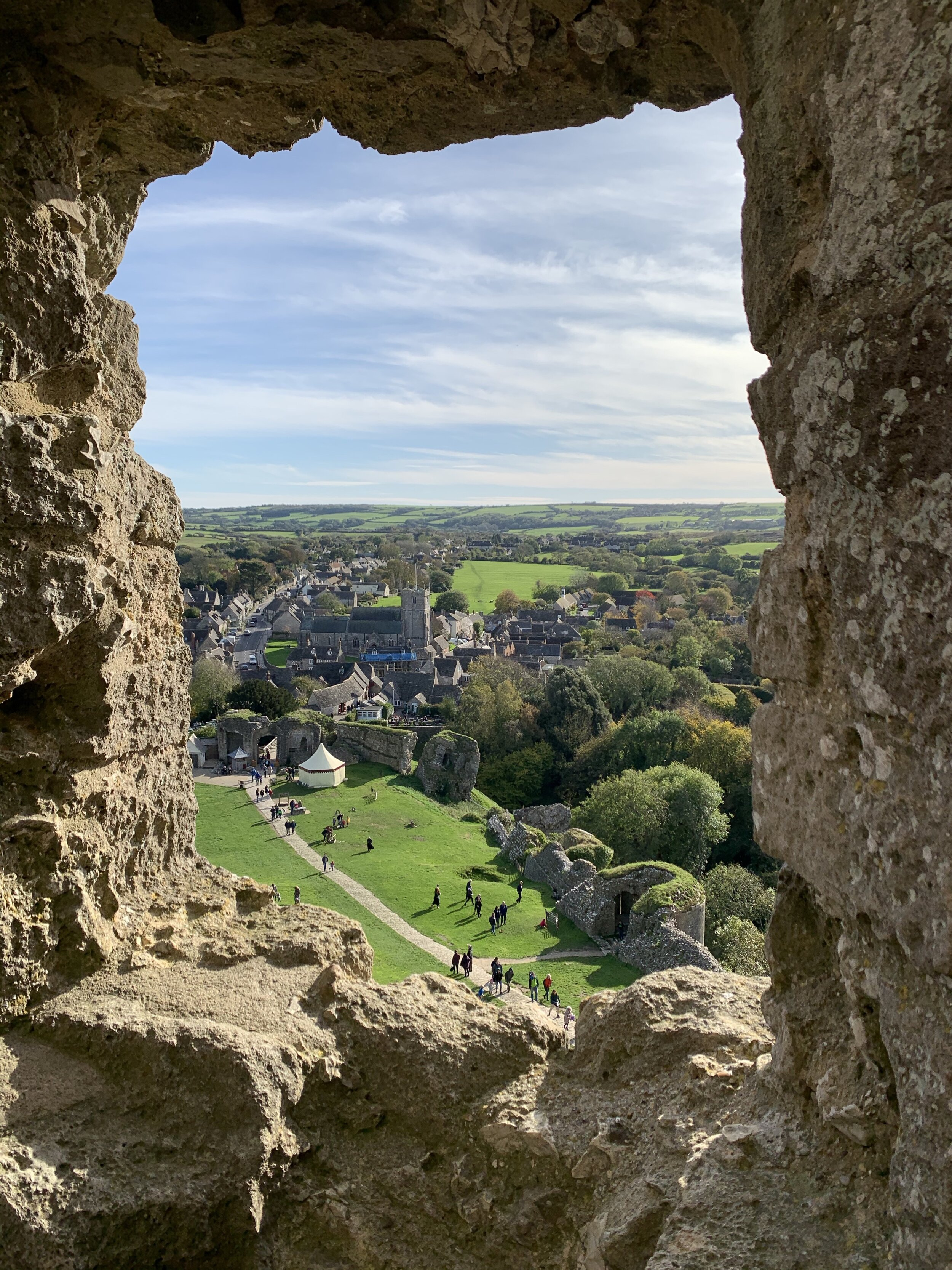 The views from the castle are spectacular