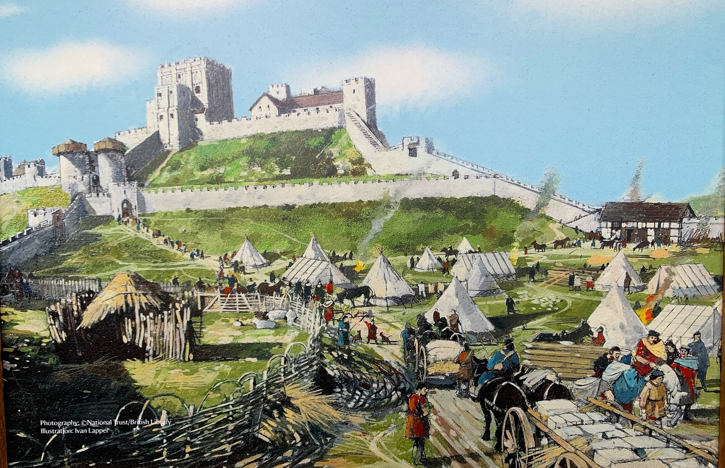 An artists impression of how the castle would have looked in its Medieval heyday