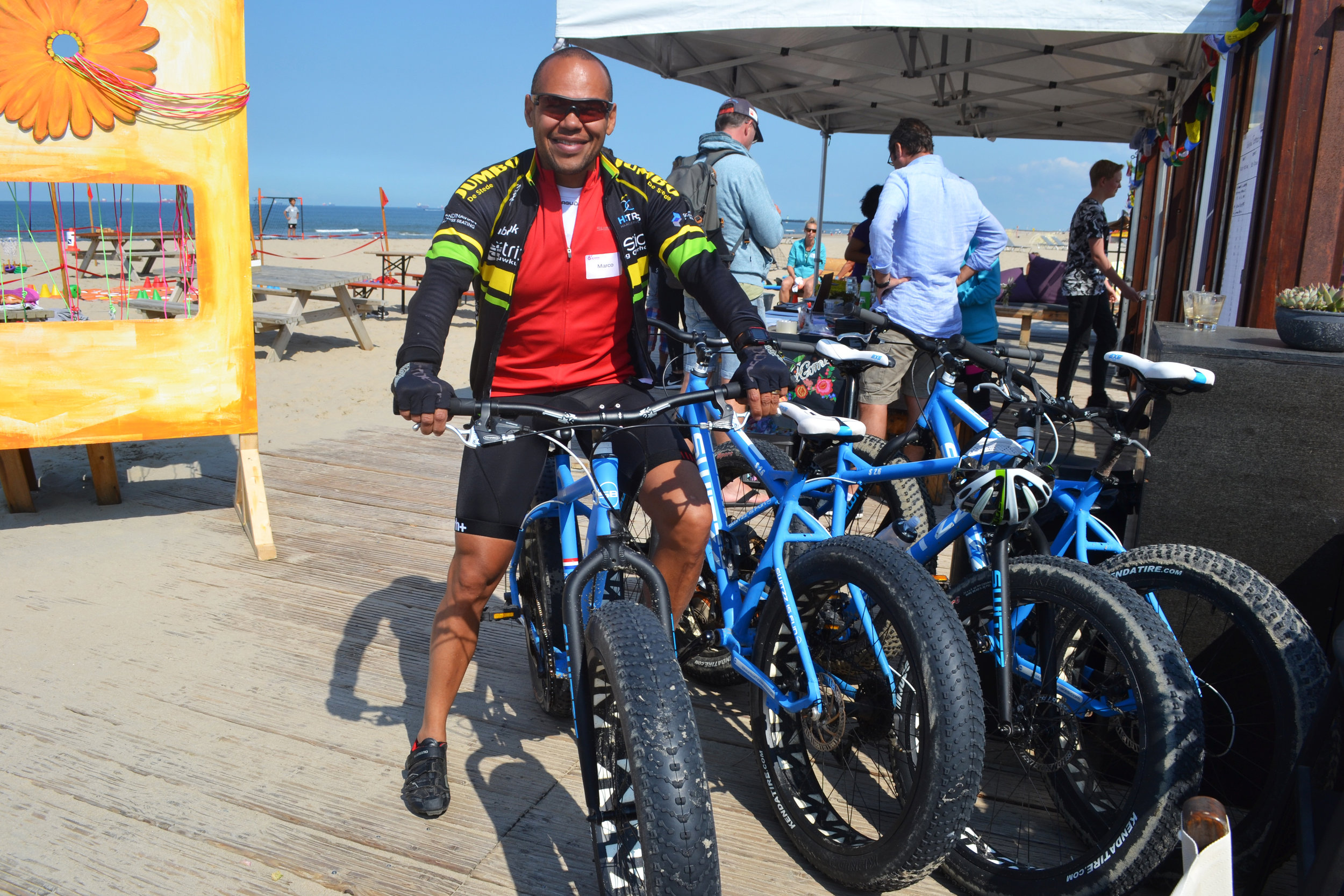 Marco, our beach-biking pro