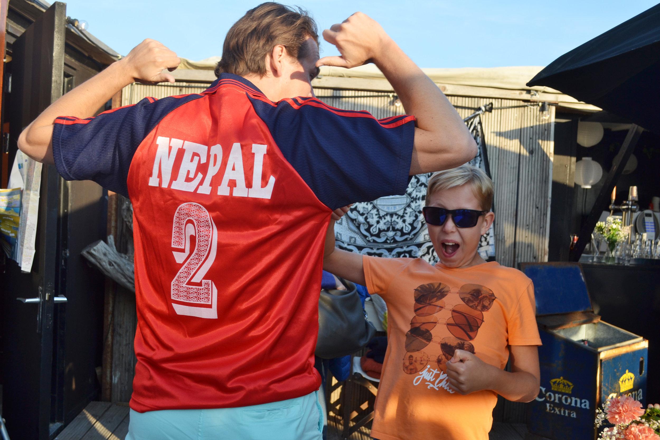Nepal football t-shirt fetched Euro 100
