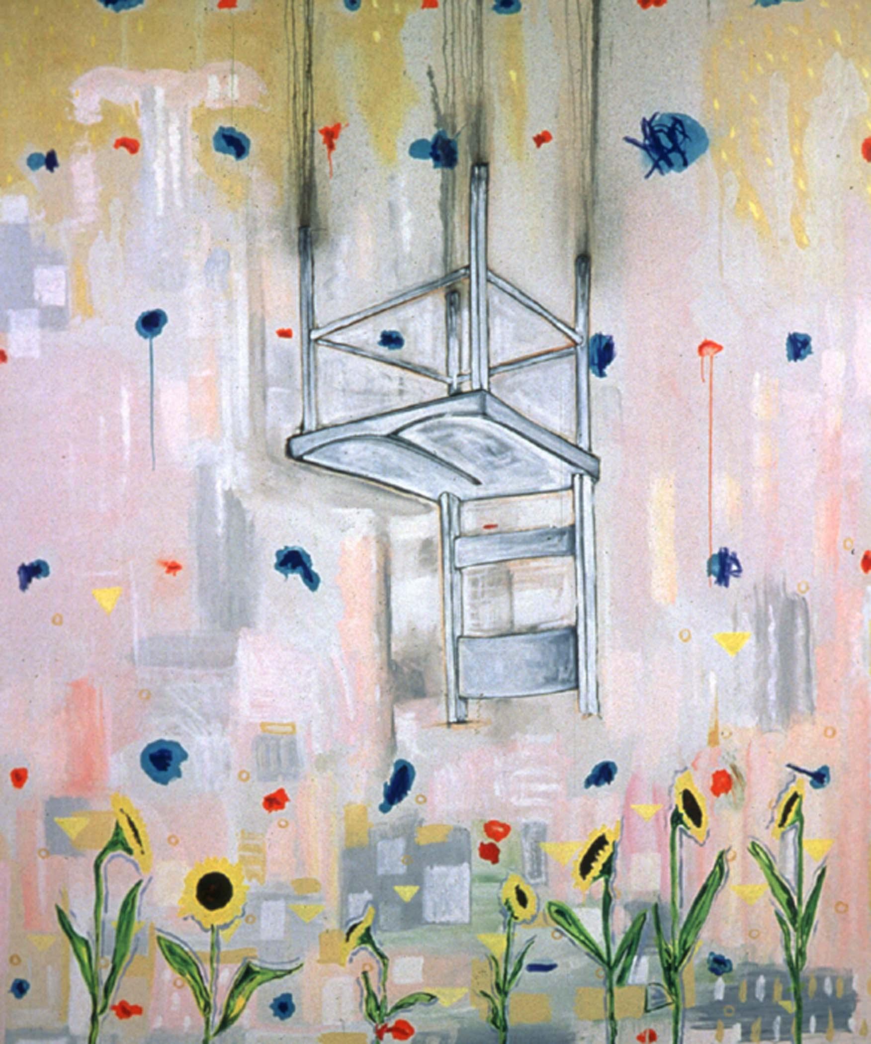 "Ex cathedra,  2000, huile sur toile / oil on canvas, 68""x 80"", 172 x 203 cm."