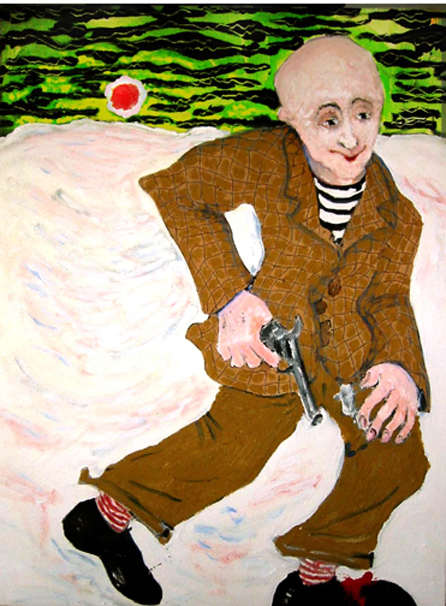 """Self-criticism,  2002, huile sur toile / oil on canvas, 25""""x 19"""", 64 x 48 cm."""