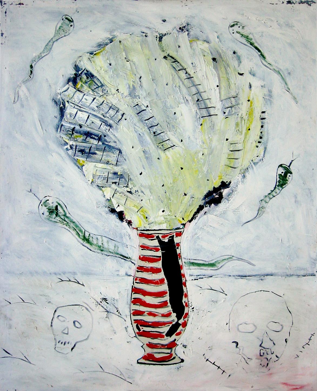 Serpents et échelles , circa 1986, huile sur toile / oil on canvas