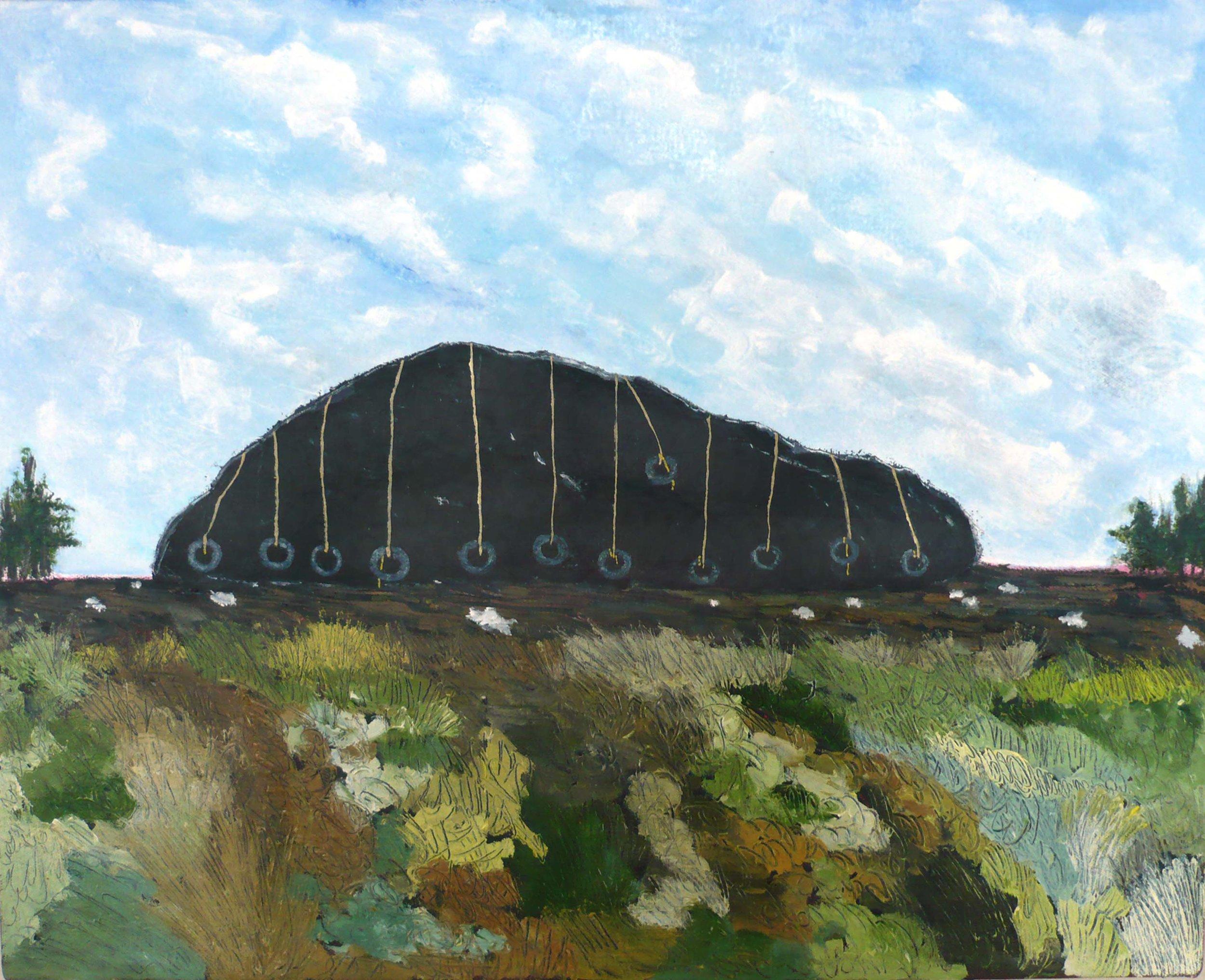 Paysage #9 , 2008, huile sur toile / oil on canvas
