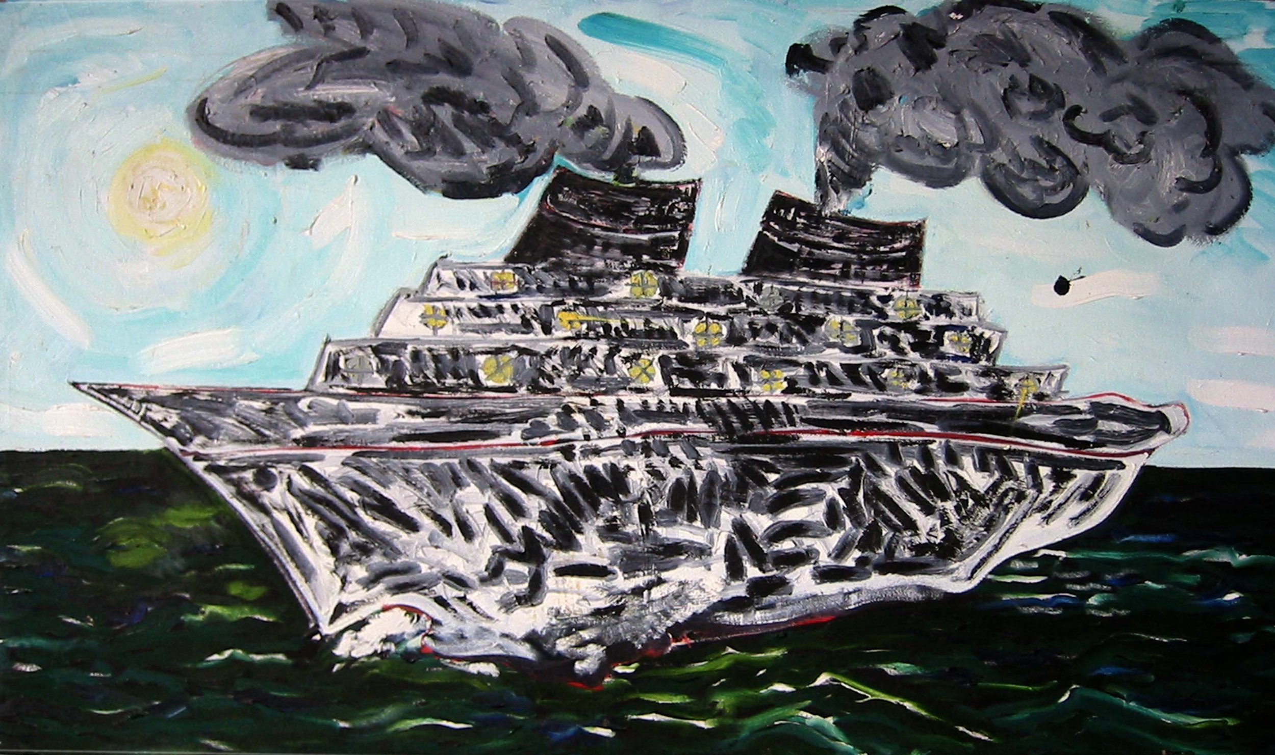 À contre-jour , circa 2001, huile sur toile / oil on canvas
