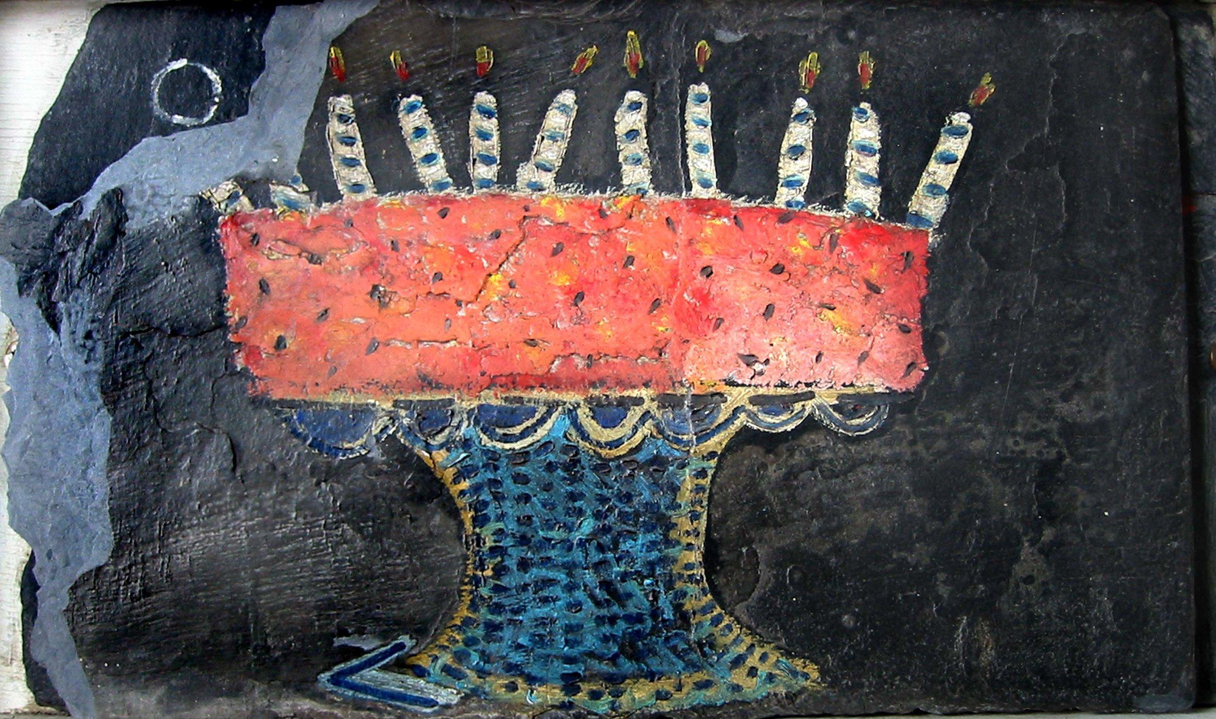 Gâteau sur ardoise , circa 2001