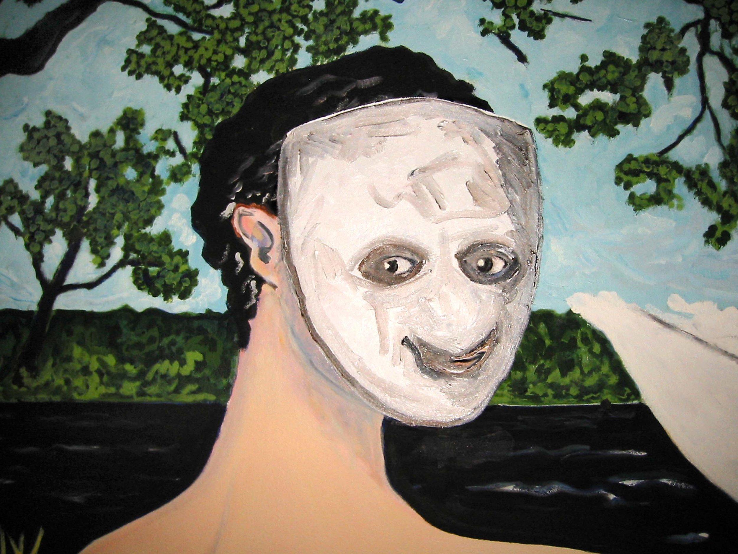 Léda  (détail), circa 2002, huile sur toile / oil on canvas
