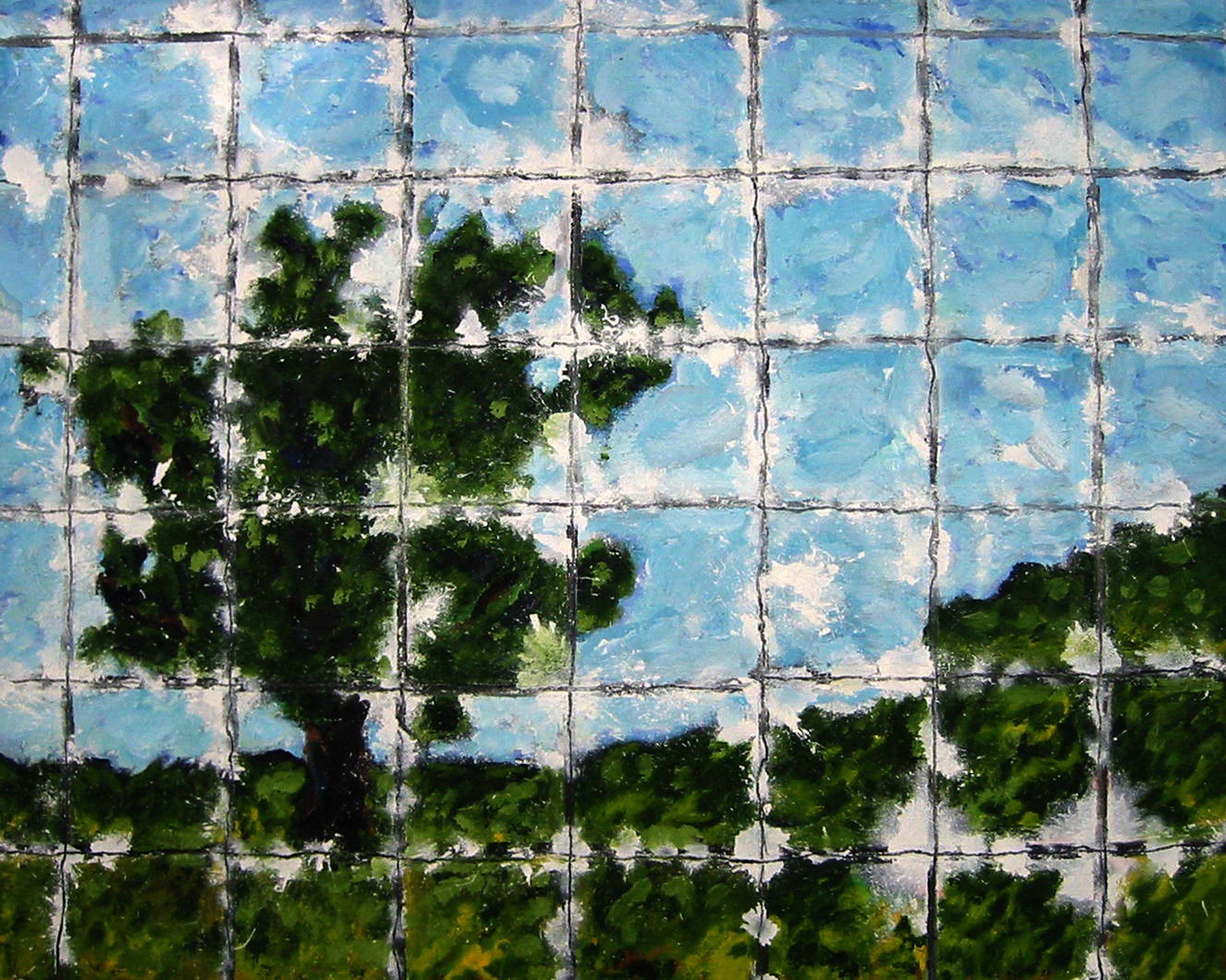 Paysage , circa 2002, huile sur toile / oil on canvas