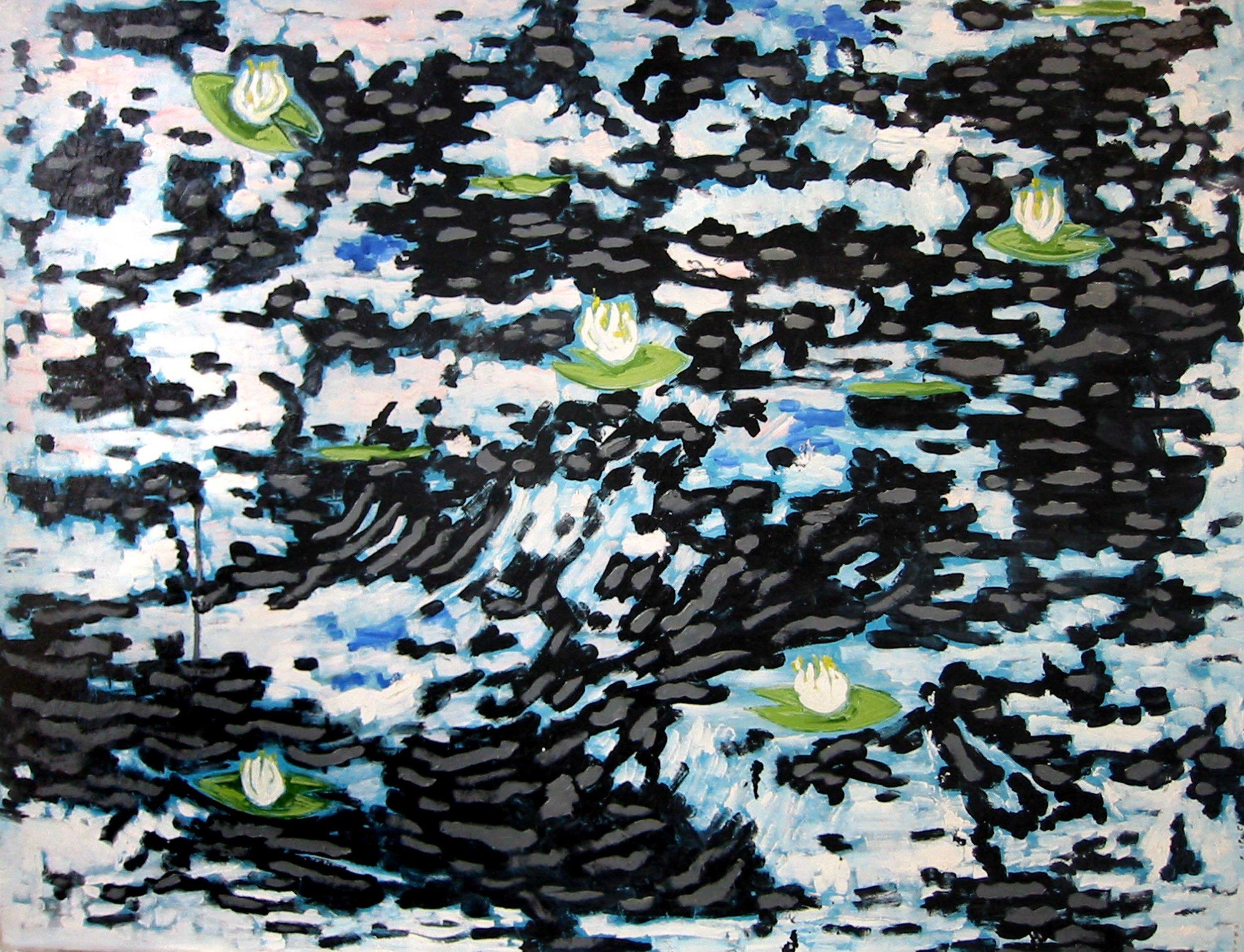 Nénuphars sur l'étang , circa 2005, huile sur toile / oil on canvas