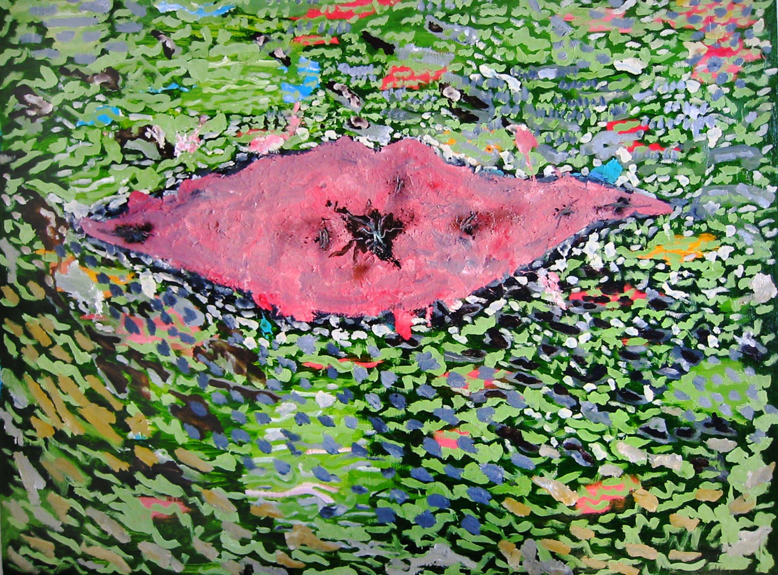 Paysage à baiser , circa 2005, huile sur toile / oil on canvas