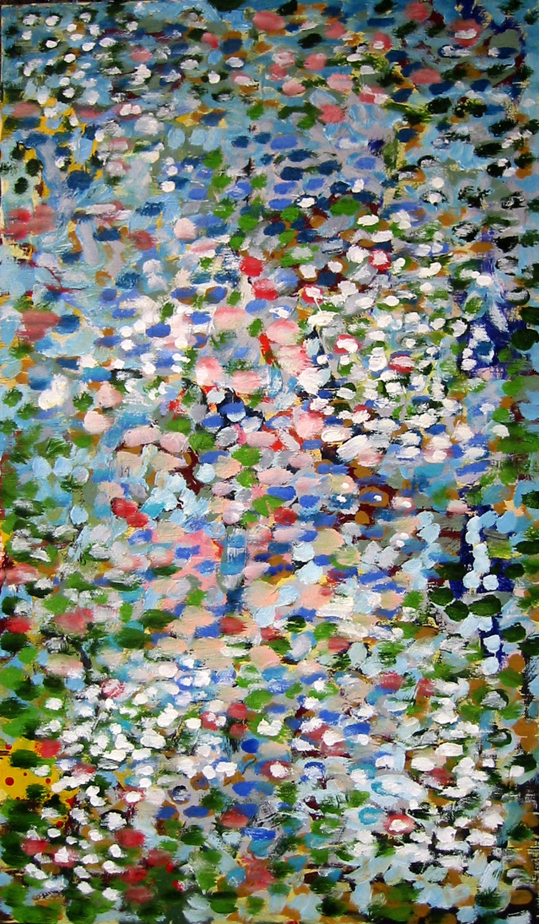 Reflections on my pond No 4 , circa 2005, huile sur toile / oil on canvas