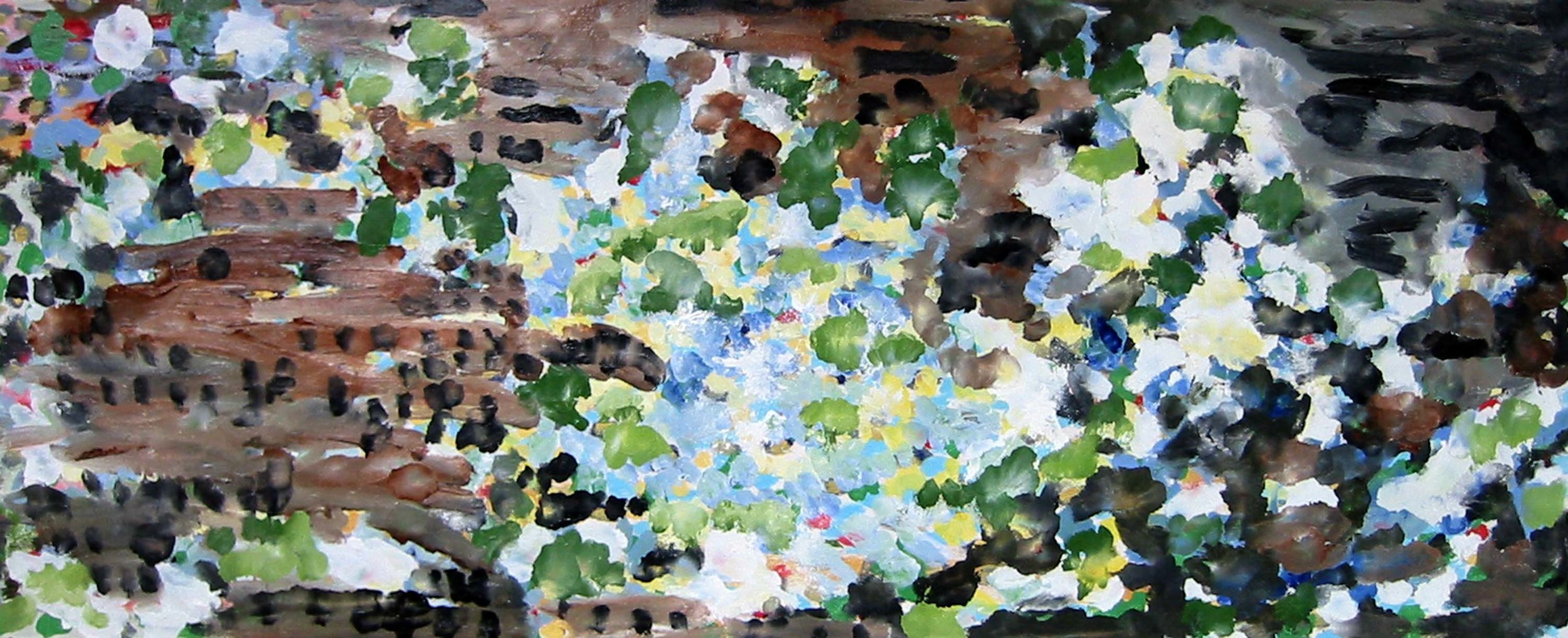 Reflections on my pond , circa 2005, huile sur toile / oil on canvas