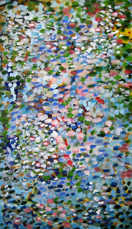 Reflets sur mon étang , circa 2005, huile sur toile / oil on canvas