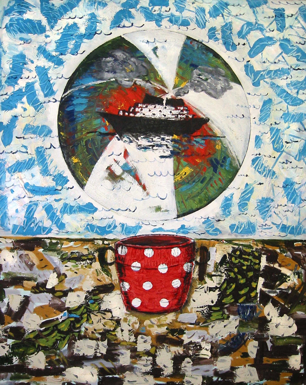No 1 Pot ballon , circa 2006, huile sur toile / oil on canvas