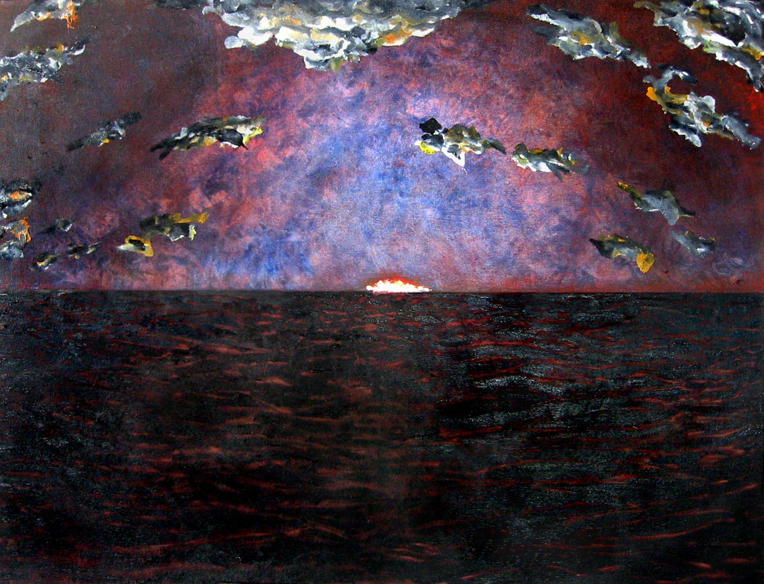 Drame en mer No 2 , circa 2007, huile sur toile / oil on canvas