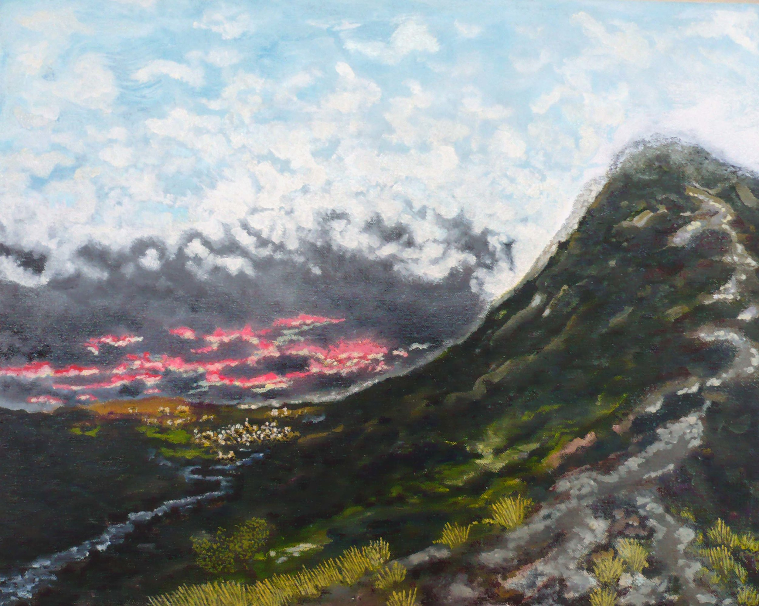 Coniston, U.K , circa 2008, huile sur toile / oil on canvas