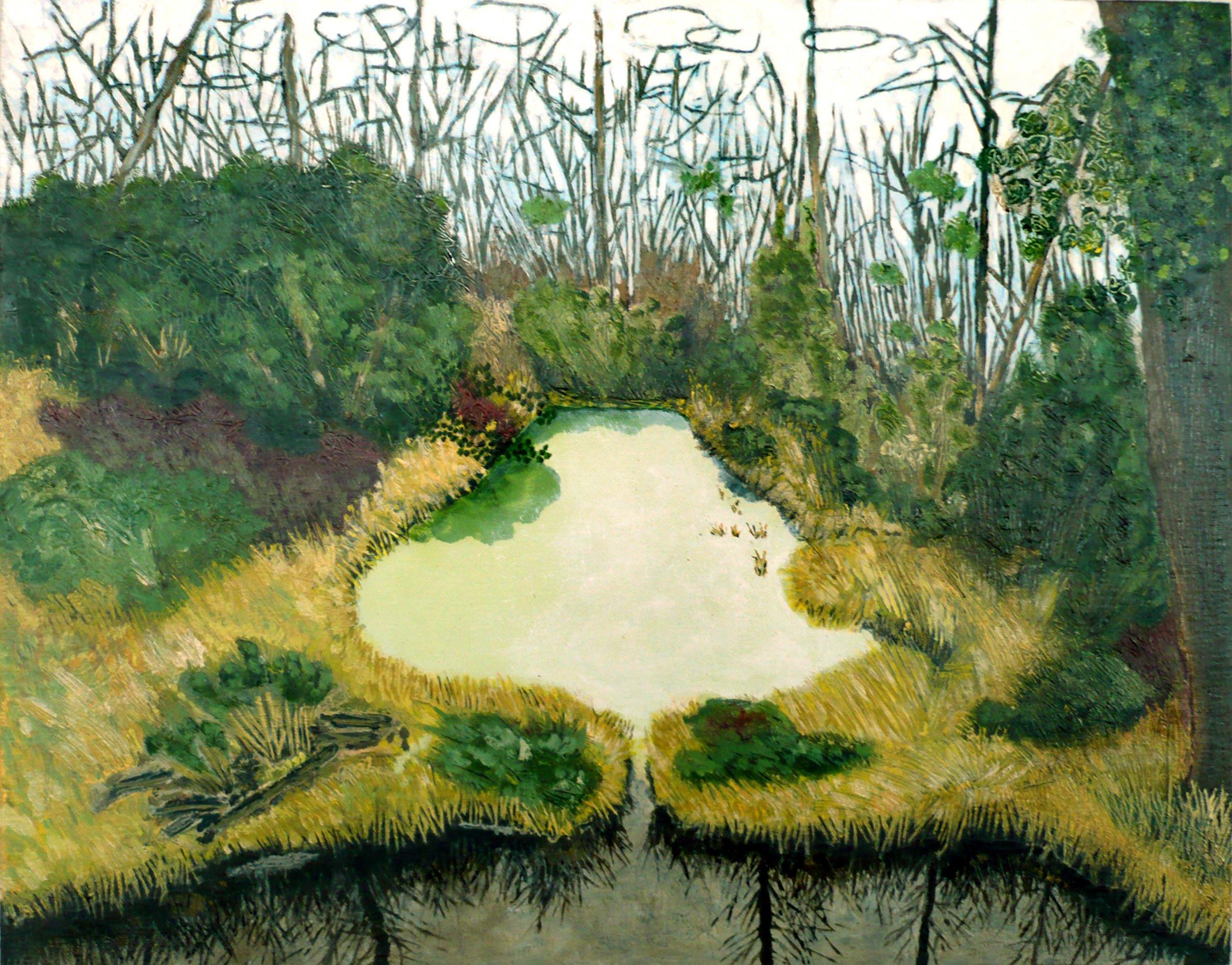 Paysage No 4 , circa 2008, huile sur toile / oil on canvas