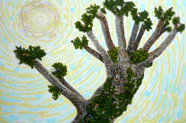 Élagage derrière , 2010-2011, huile sur toile / oil on canvas
