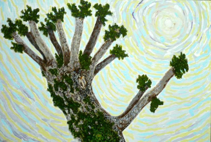 Élagage devant , 2010-2011, huile sur toile / oil on canvas