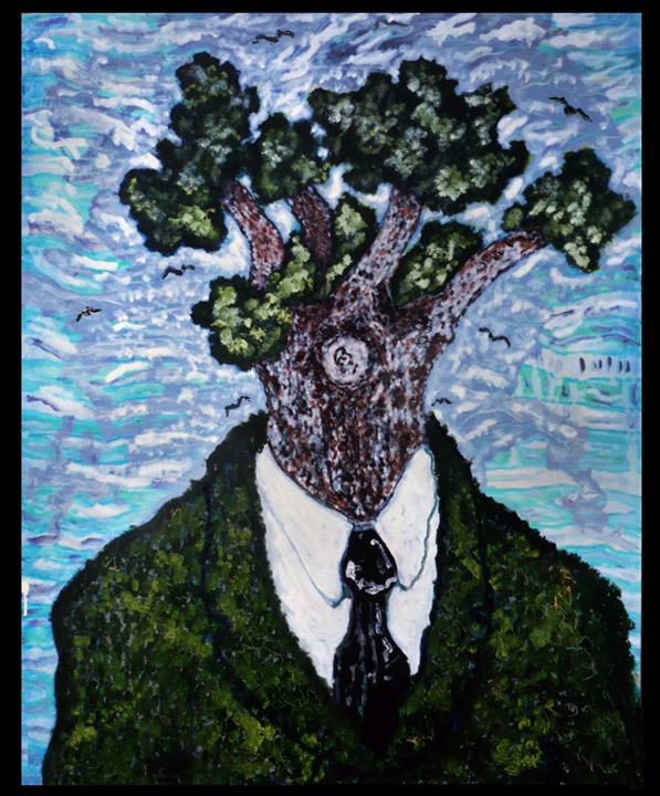Portrait de moi-même en tant qu'arbre , 2010-2011, huile sur toile / oil on canvas