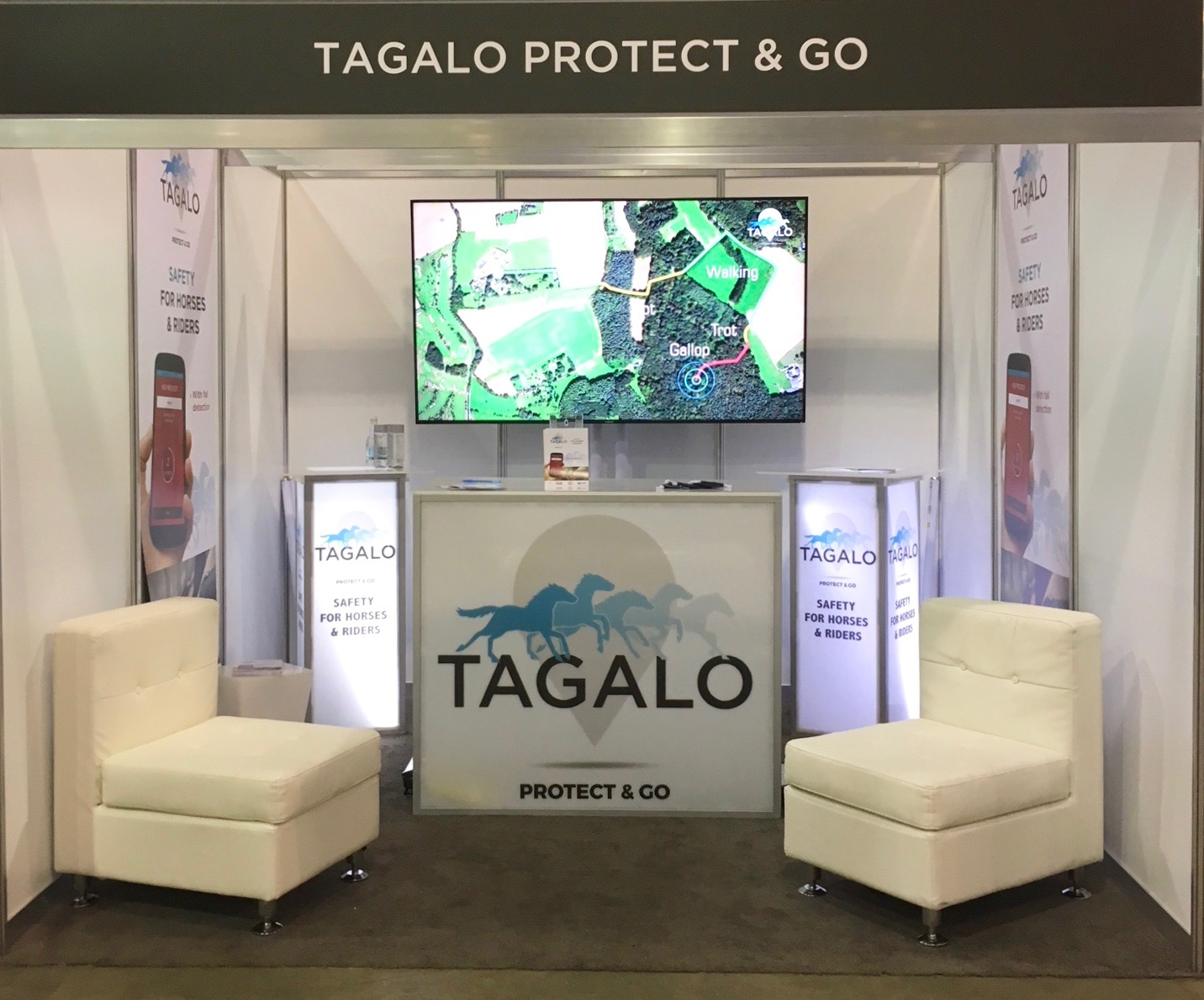 The Tagalo booth at Longines Masters