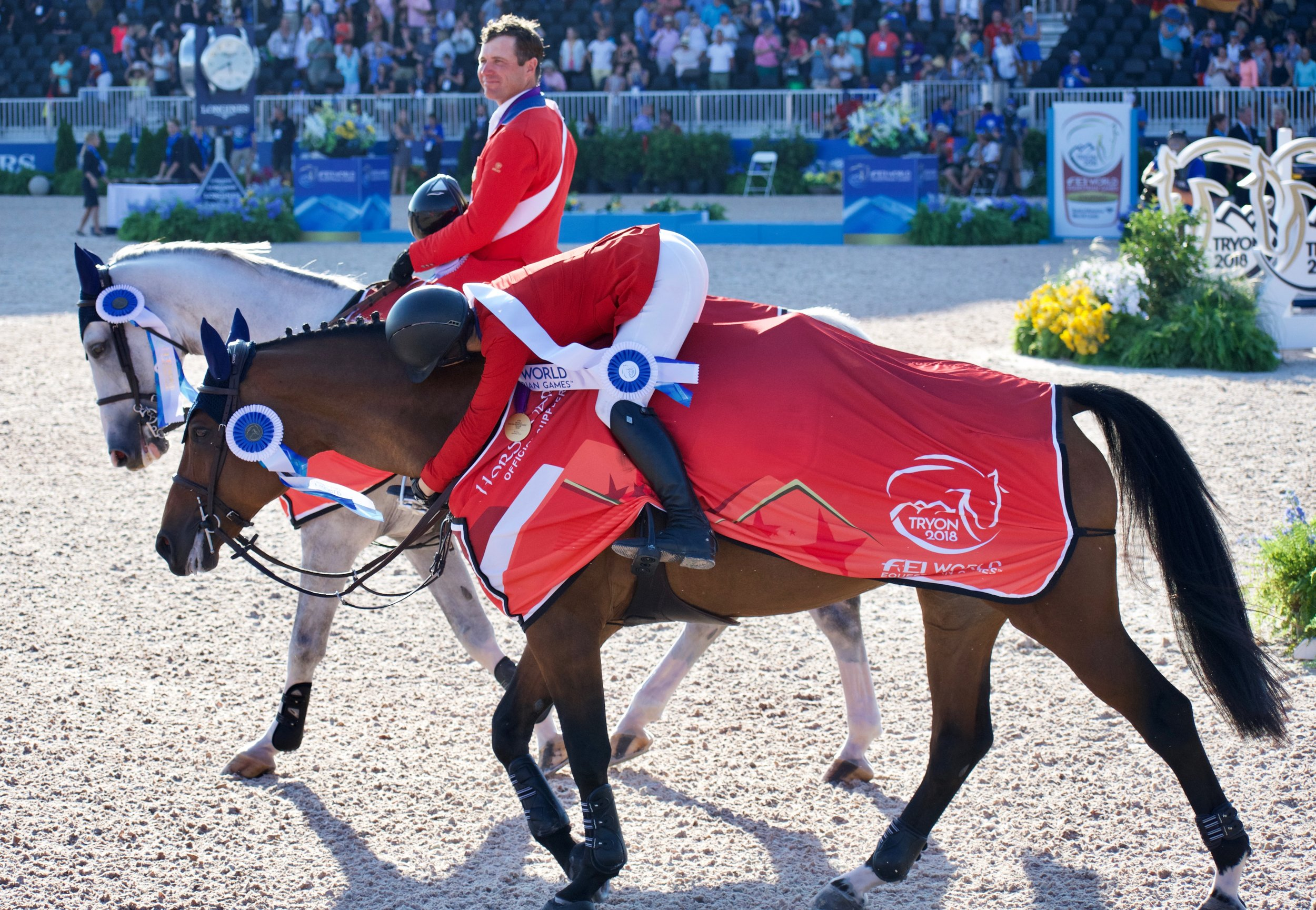 Adrienne had no shortage of hugs for her mare especially after winning the coveted gold.