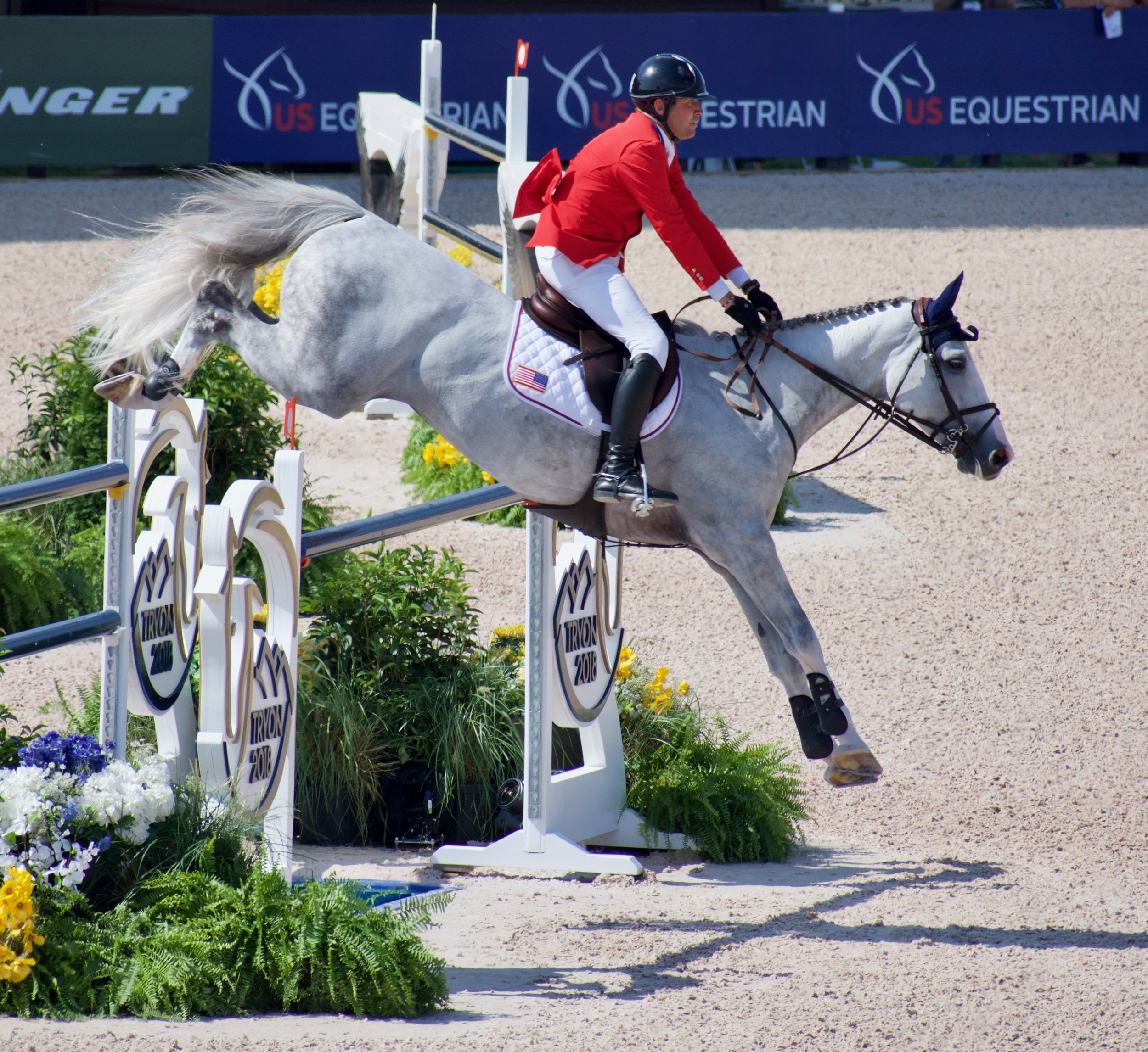 Grace under pressure demonstrated by Devin Ryan and Eddie Blue clearing the Tryon 2018 jump.