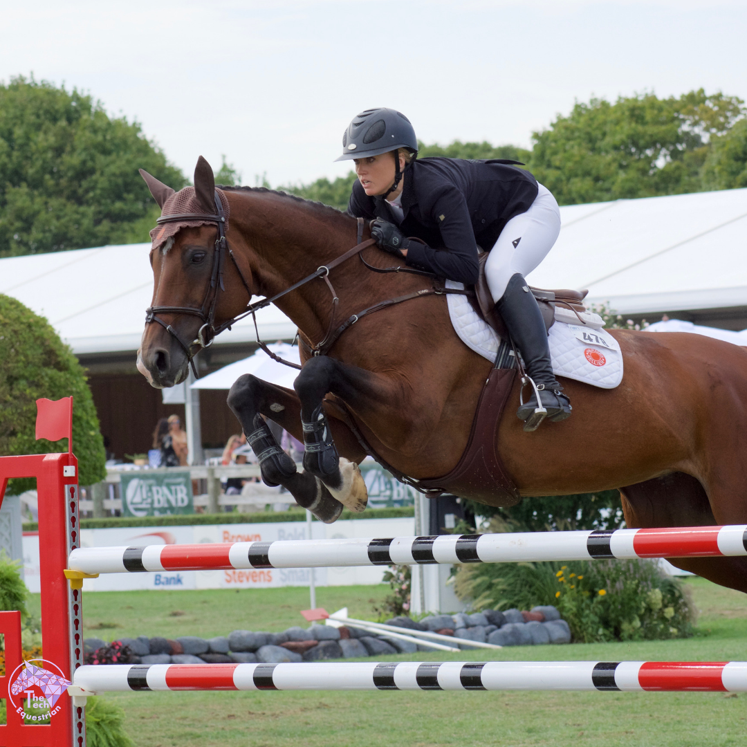 Lindsay Douglass riding her trusty mare, Butterfly in the Hampton Classic