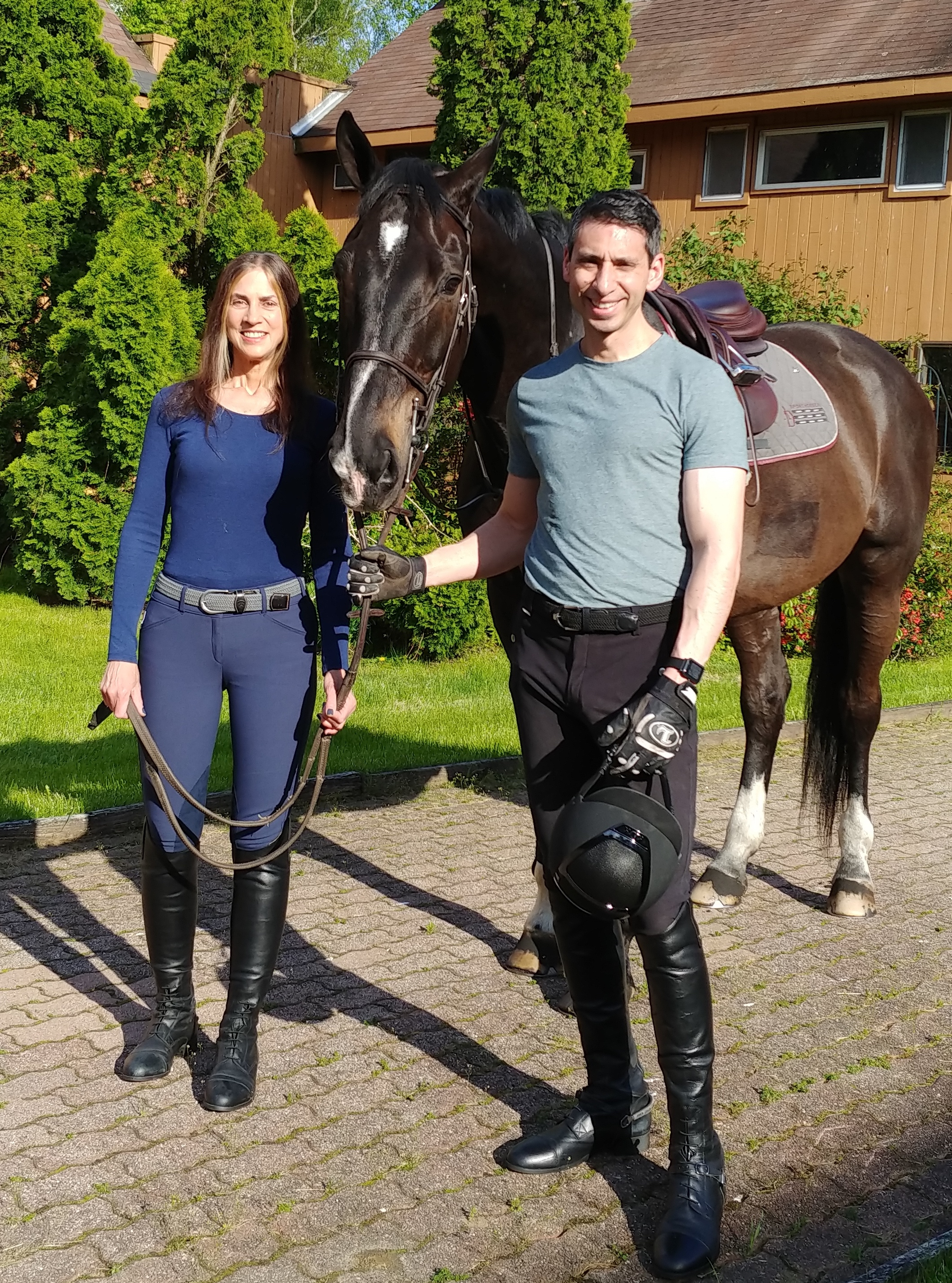 """Heelsdown.com Founders Betty and John Messina: """"Our goal is to help stables grow their business."""""""