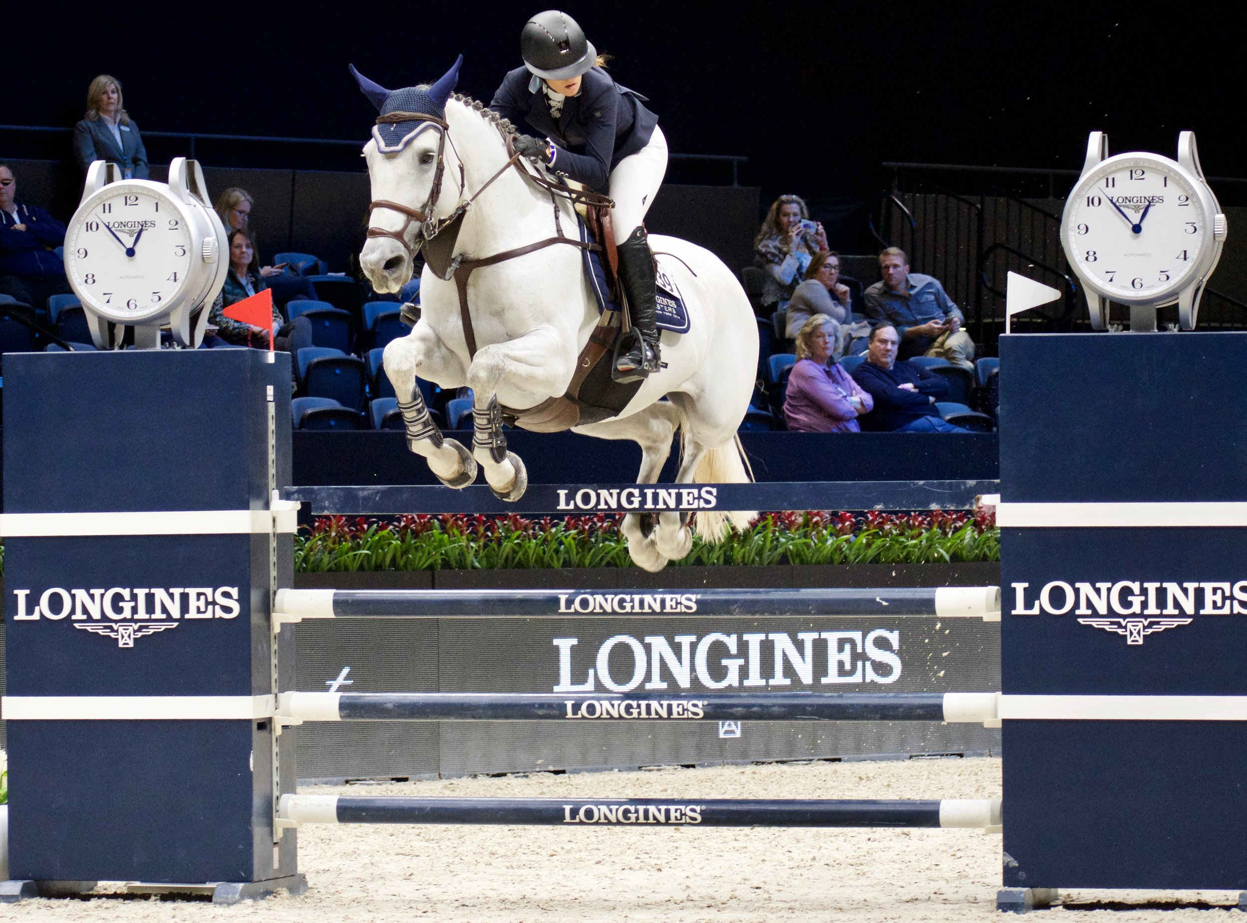 Carolina riding Una in the U25 Grand Prix at this year's Longines Masters of New York.